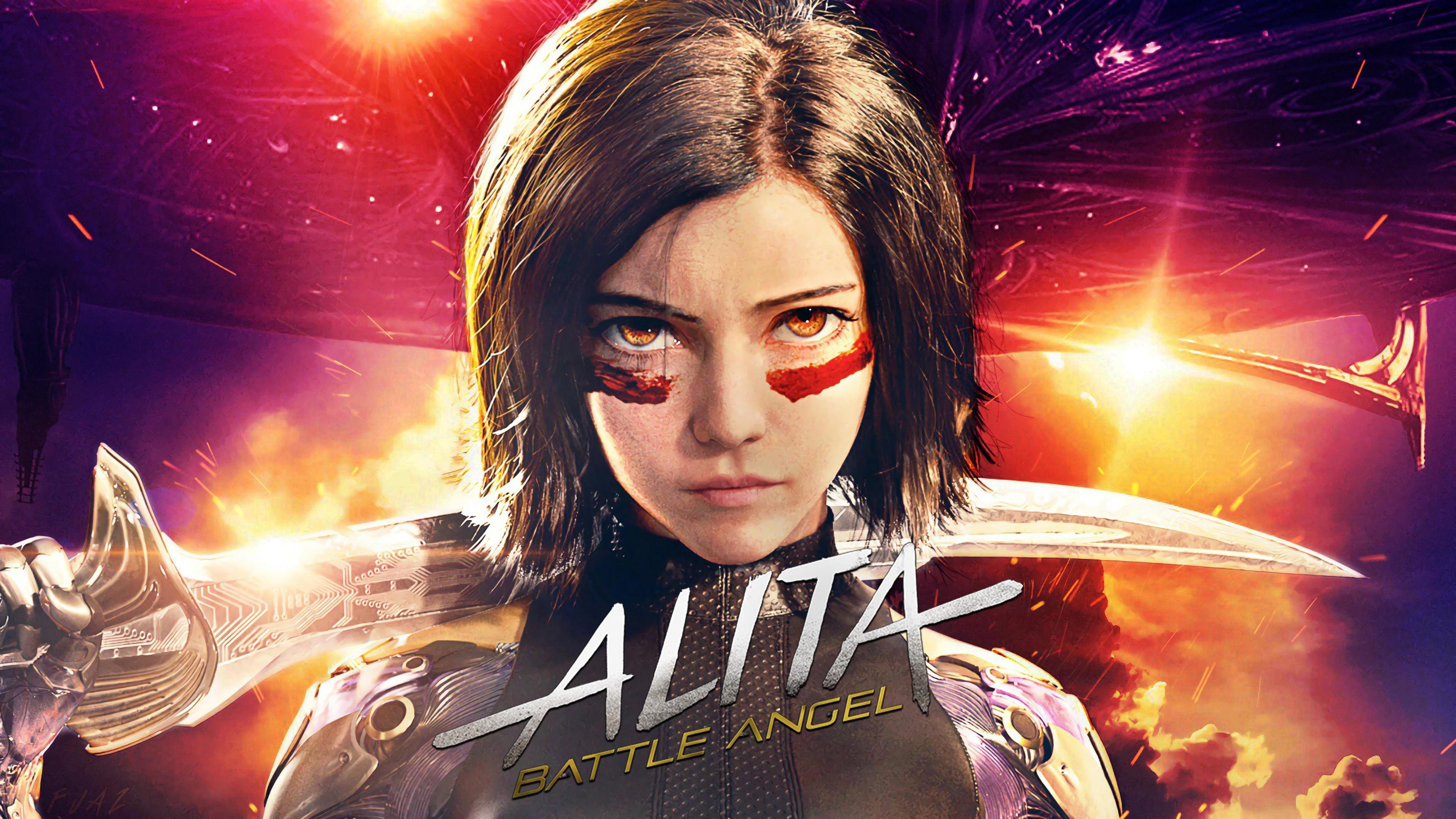 the alita battle angel 4k 1560535041 - The Alita Battle Angel 4k - movies wallpapers, hd-wallpapers, alita battle angel wallpapers, 4k-wallpapers, 2019 movies wallpapers