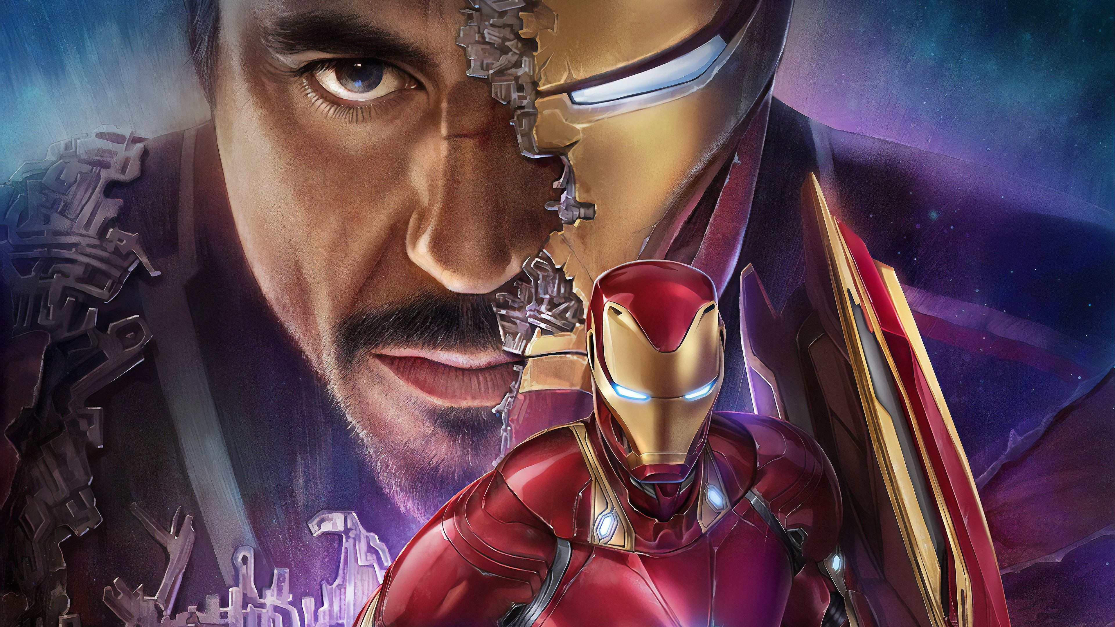 Wallpaper 4k Tony Stark Iron Man 4k 4k Wallpapers Artist