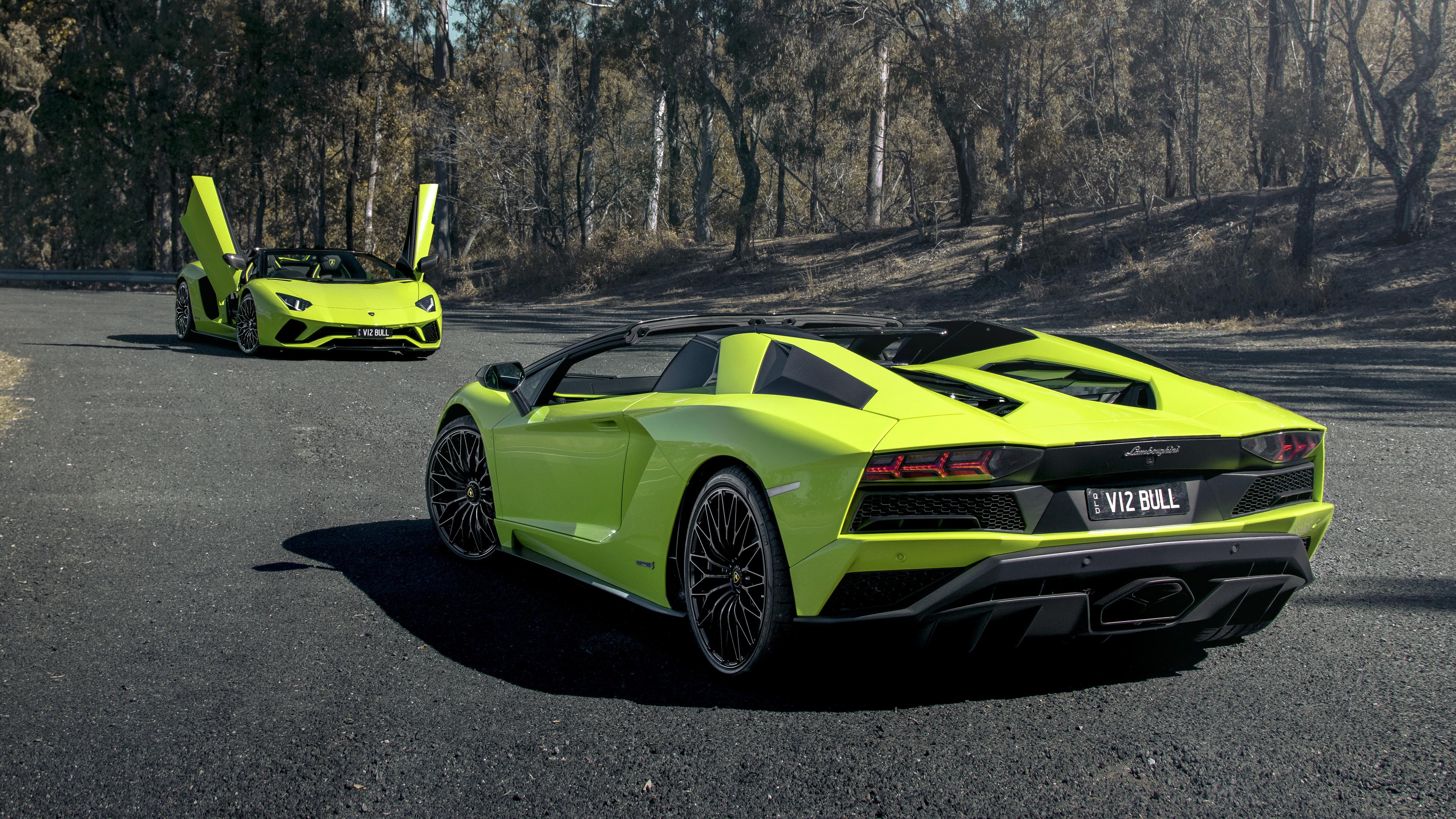 Wallpaper 4k 2018 Lamborghini Aventador S Roadster 4k