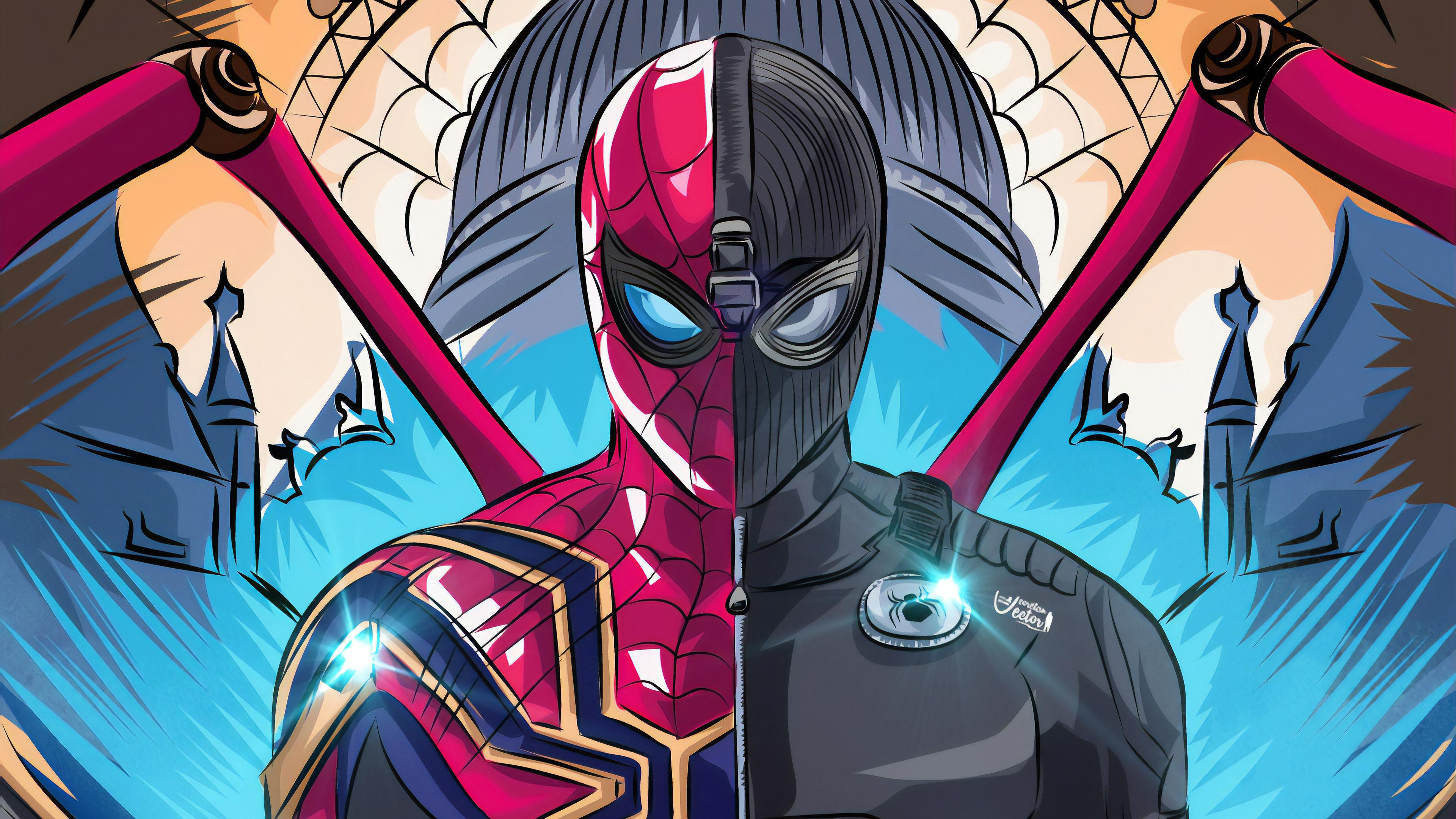 4k spiderman farfrom home 1562105484 - 4k Spiderman Farfrom Home - superheroes wallpapers, spiderman wallpapers, spiderman far from home wallpapers, hd-wallpapers, digital art wallpapers, behance wallpapers, artwork wallpapers, 4k-wallpapers