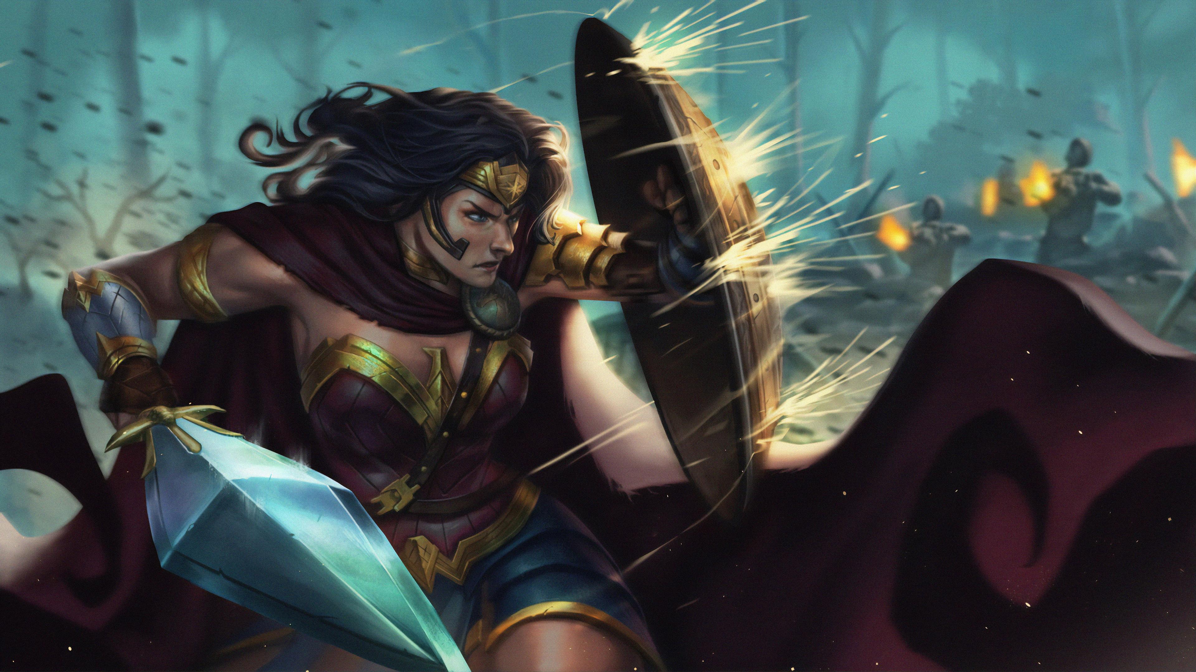 4k wonder woman fanart 1563220410 - 4k Wonder Woman Fanart - wonder woman wallpapers, superheroes wallpapers, hd-wallpapers, artwork wallpapers, 4k-wallpapers