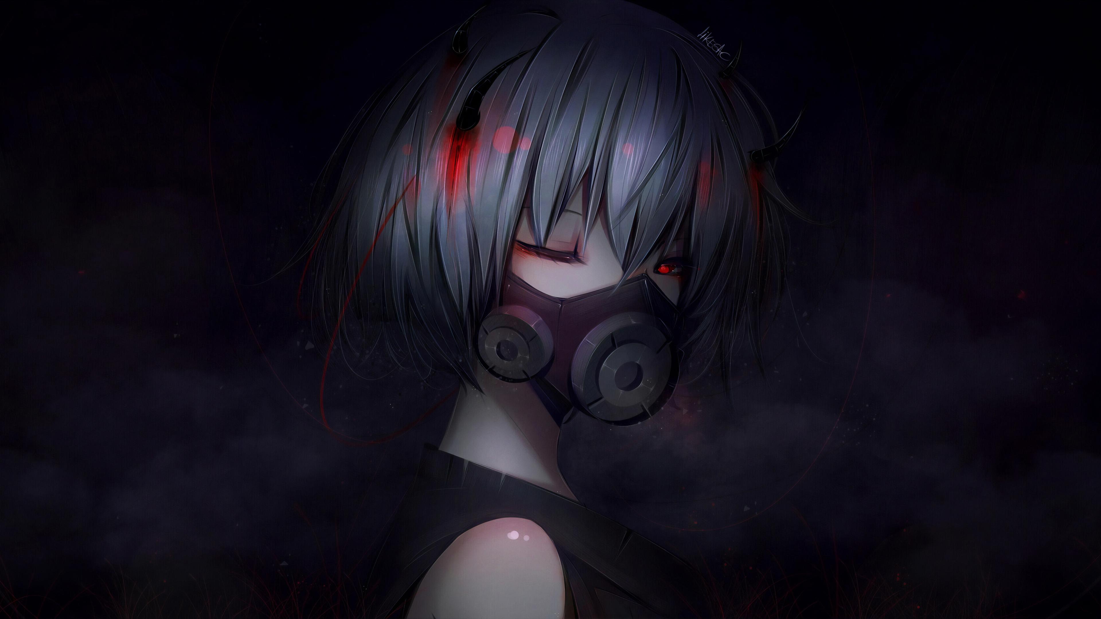 Anime Creep Girl 4k-wallpapers