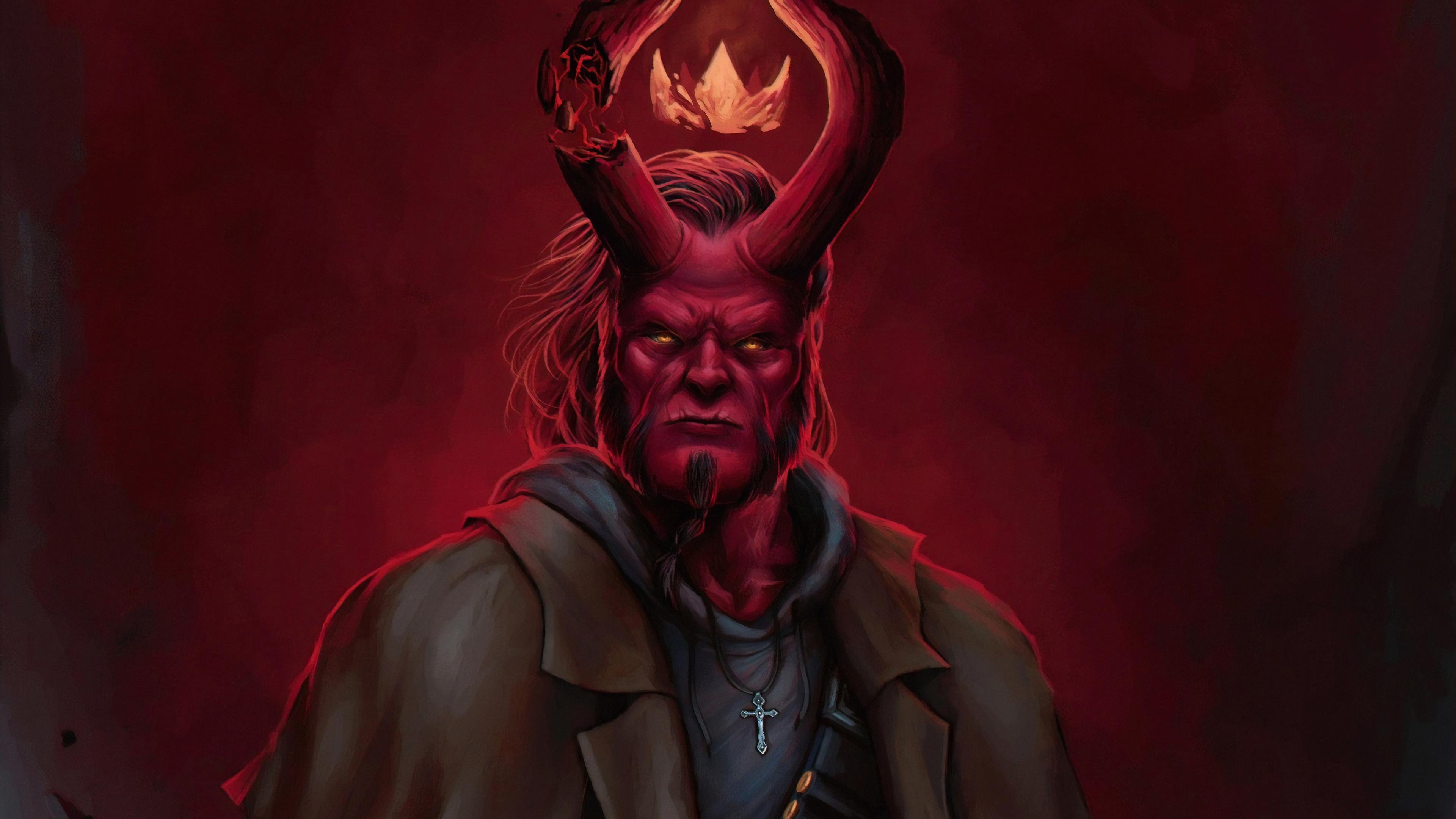 artwork hellboy 1562106228 - Artwork Hellboy - superheroes wallpapers, hellboy wallpapers, hd-wallpapers, digital art wallpapers, artwork wallpapers, art wallpapers, 4k-wallpapers