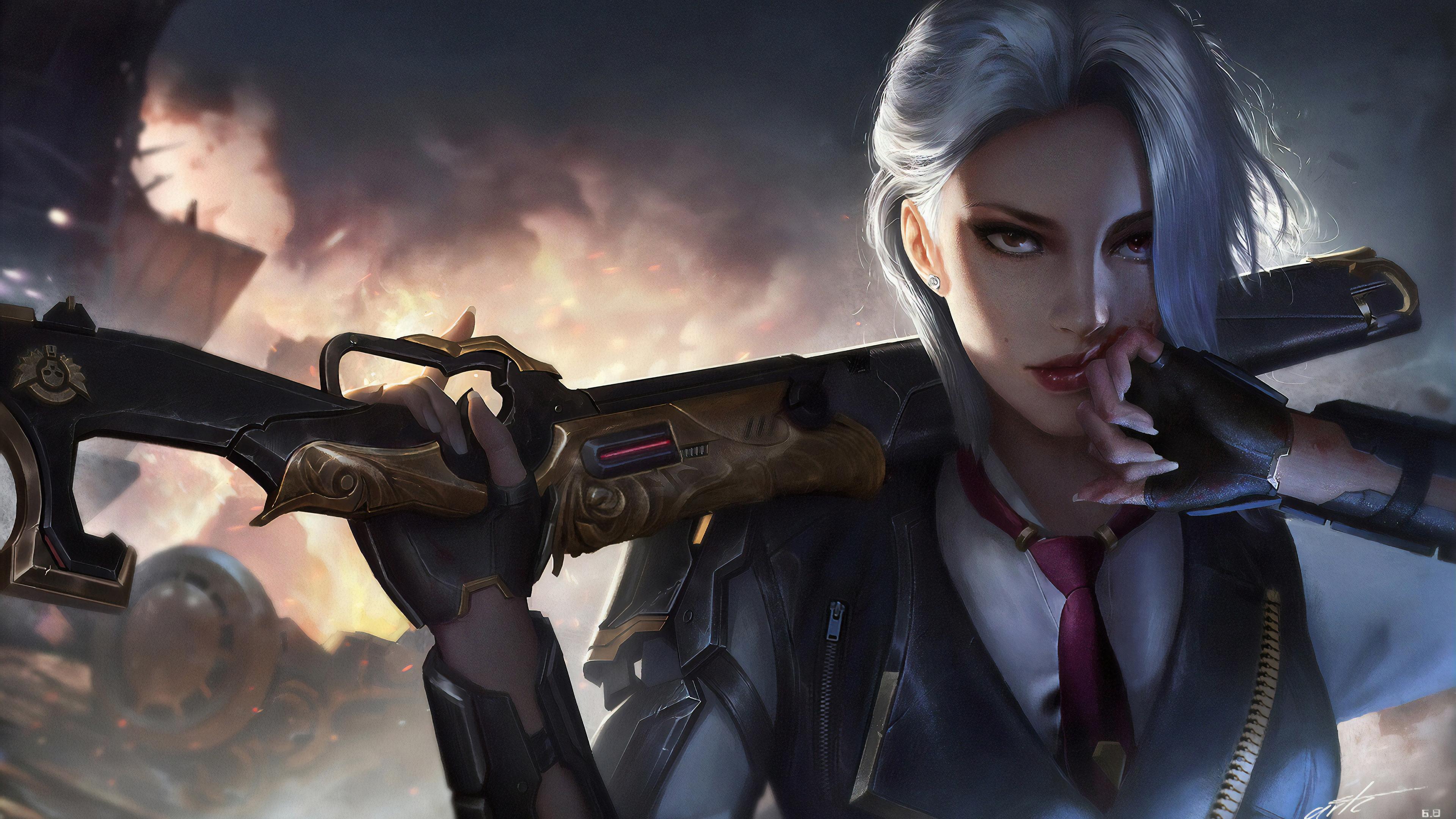 Ashe Overwatch Desktop Wallpaper - doraemon