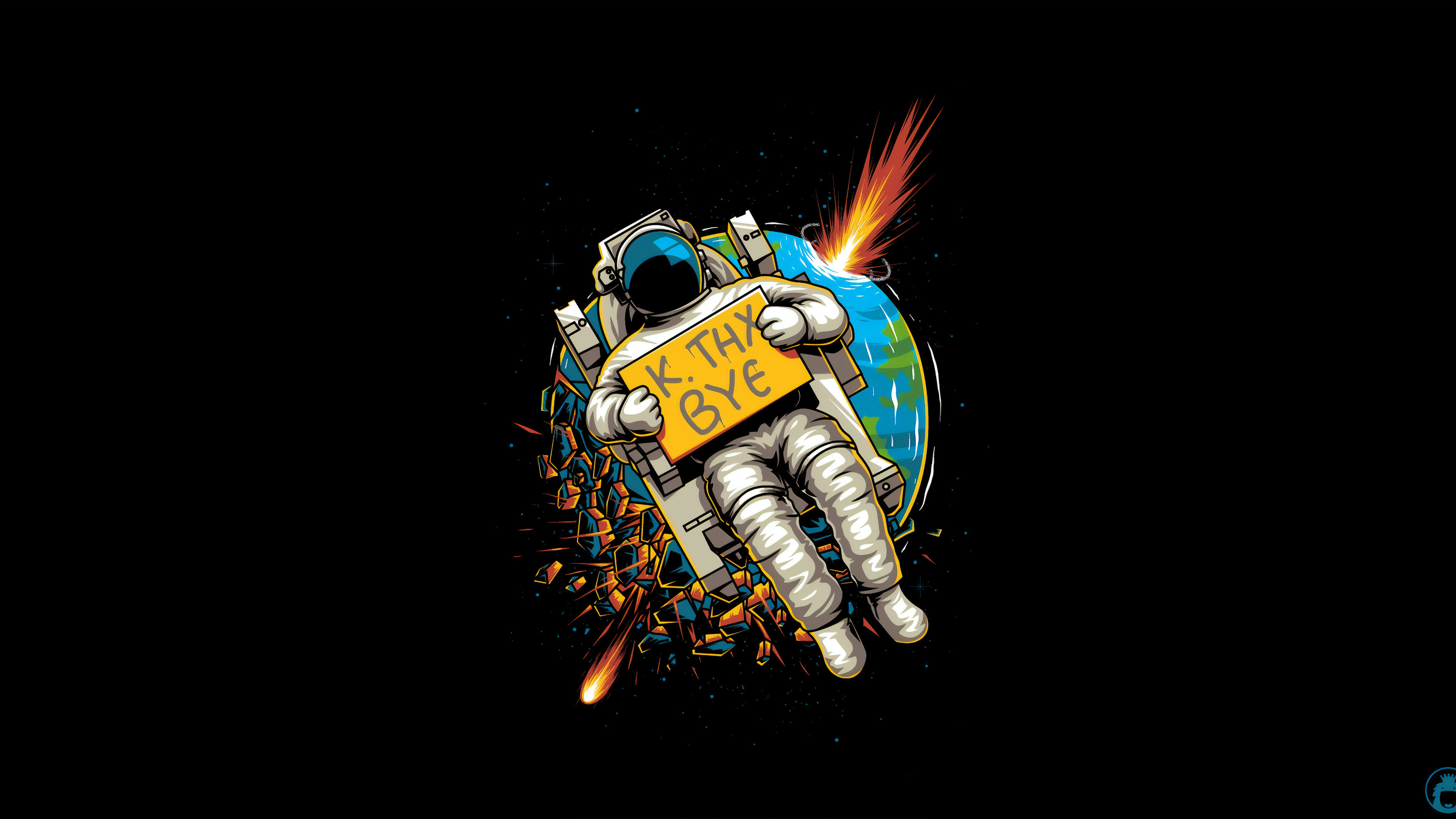 Wallpaper 4k Astronaut Okae Bye 4k Wallpapers Artist