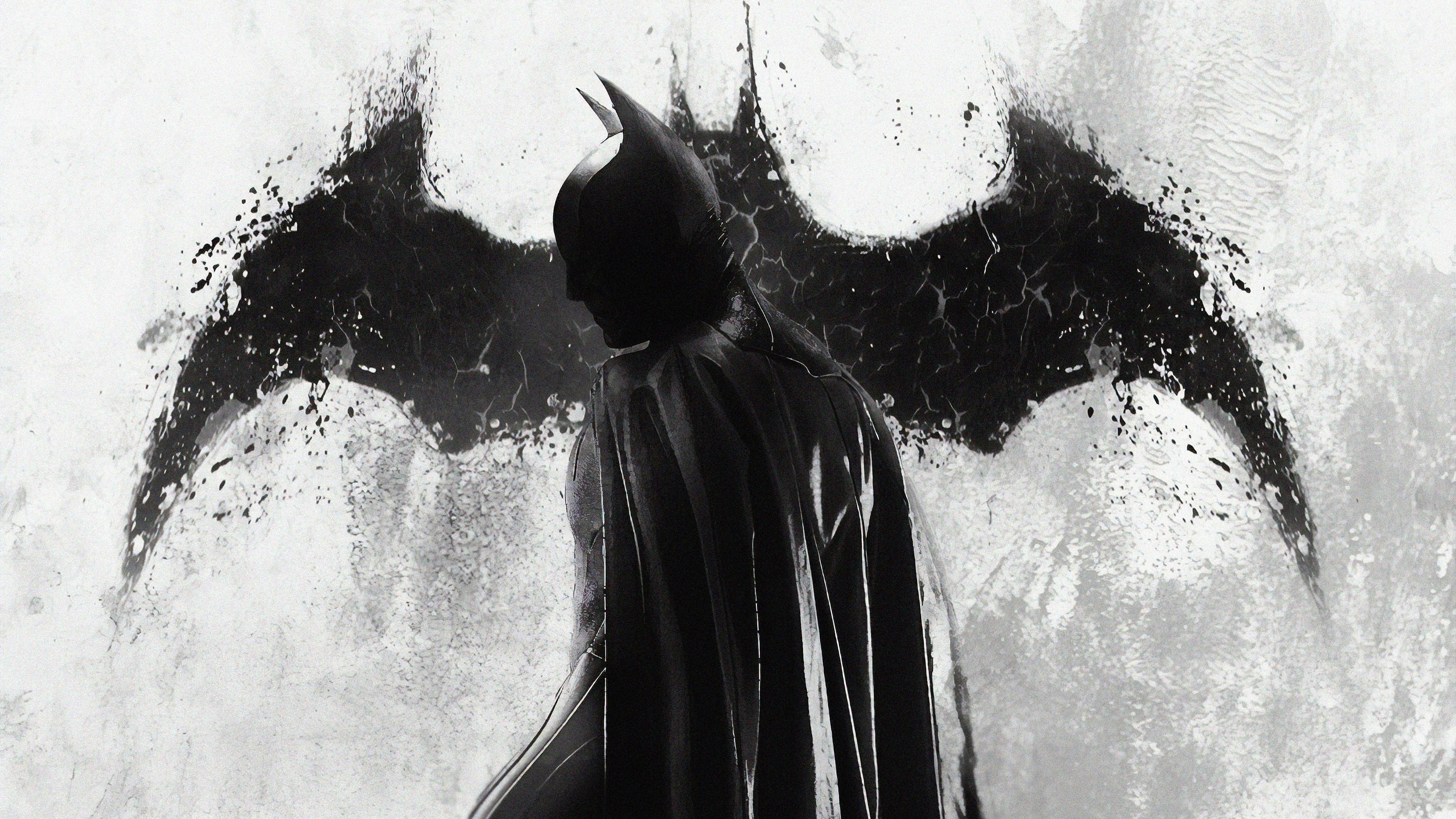 batman monochrome 1563220257 - Batman Monochrome - superheroes wallpapers, hd-wallpapers, digital art wallpapers, batman wallpapers, artwork wallpapers, 4k-wallpapers
