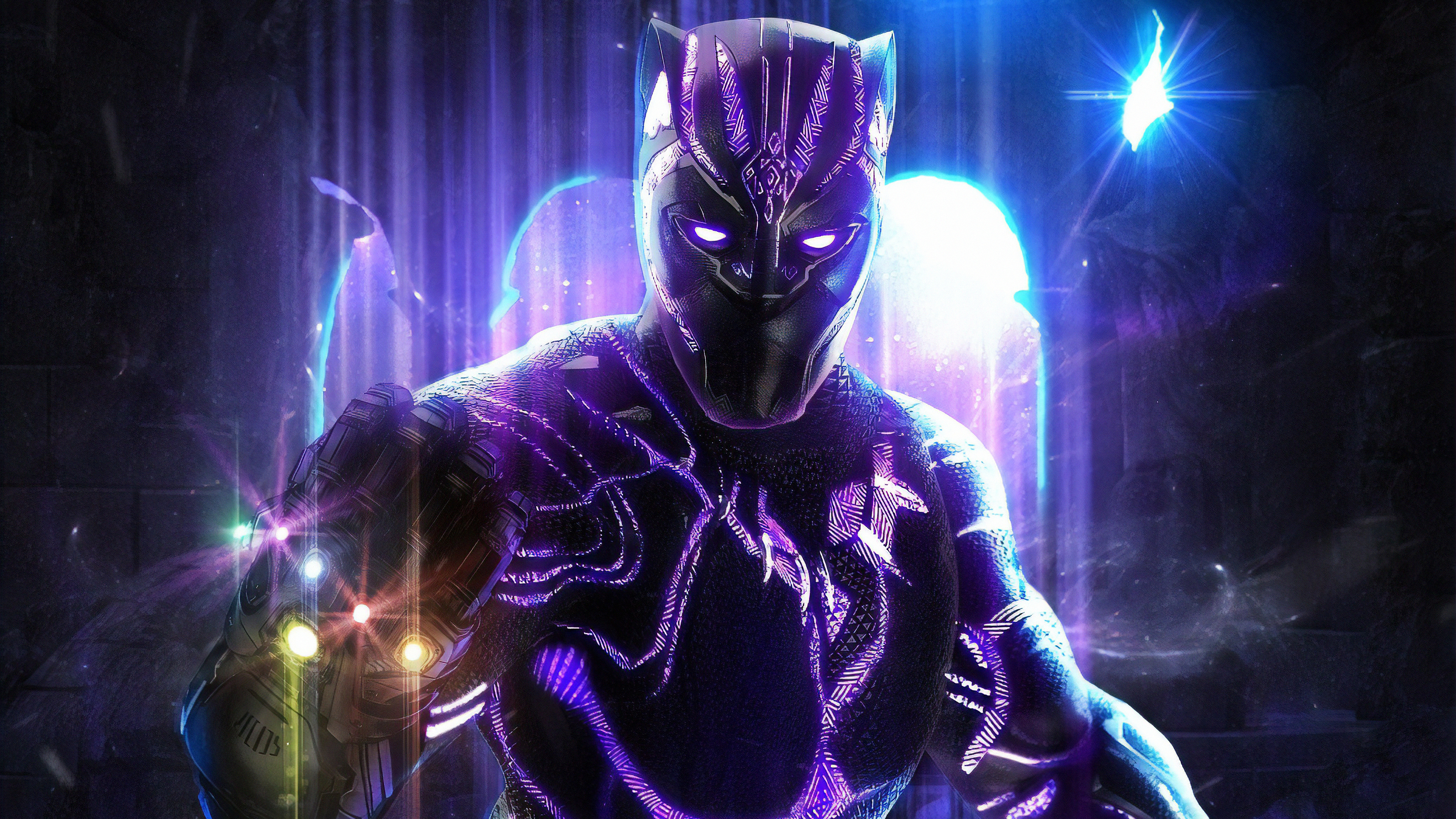 Wallpaper 4k Black Panther With Infinity Gauntlet 4k Wallpapers Artwork Wallpapers Black Panther Wallpapers Digital Art Wallpapers Hd Wallpapers Superheroes Wallpapers