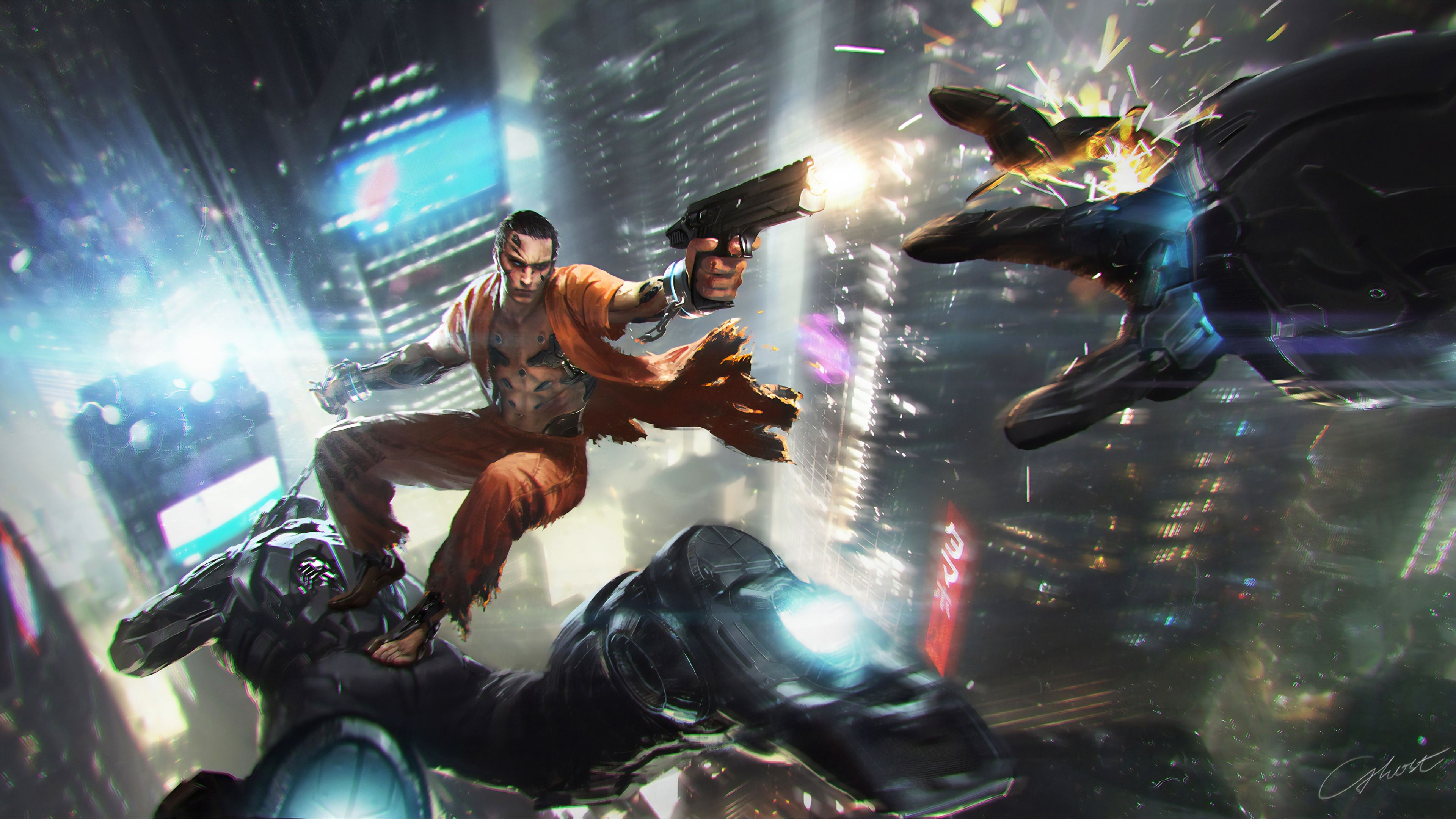 breaking out 1563222138 - Breaking Out - police wallpapers, hd-wallpapers, digital art wallpapers, artwork wallpapers, artstation wallpapers, artist wallpapers, 4k-wallpapers