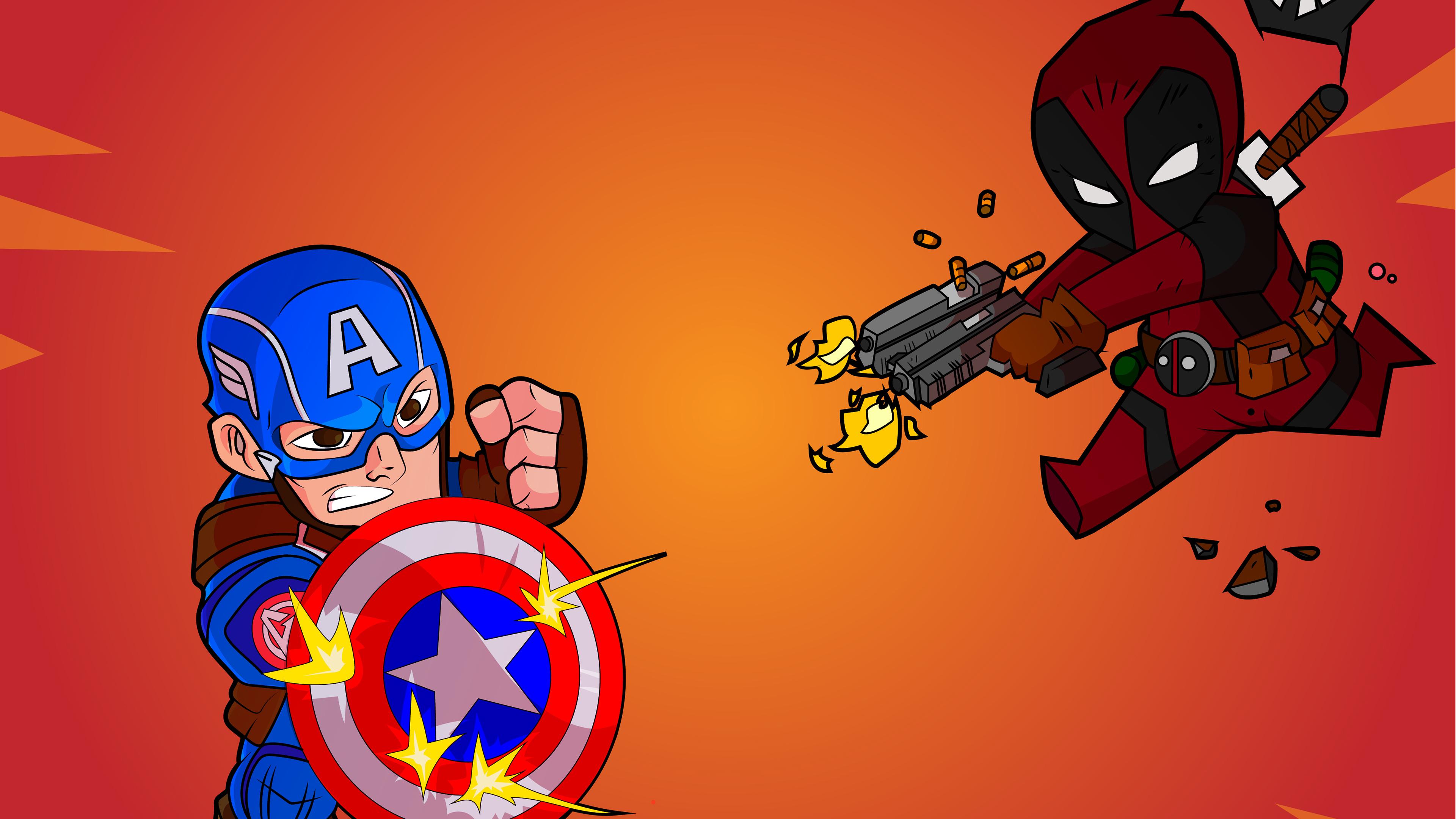 captain america deadpool 1562105719 - Captain America Deadpool - superheroes wallpapers, hd-wallpapers, digital art wallpapers, deadpool wallpapers, captain america wallpapers, artwork wallpapers, artist wallpapers, 4k-wallpapers