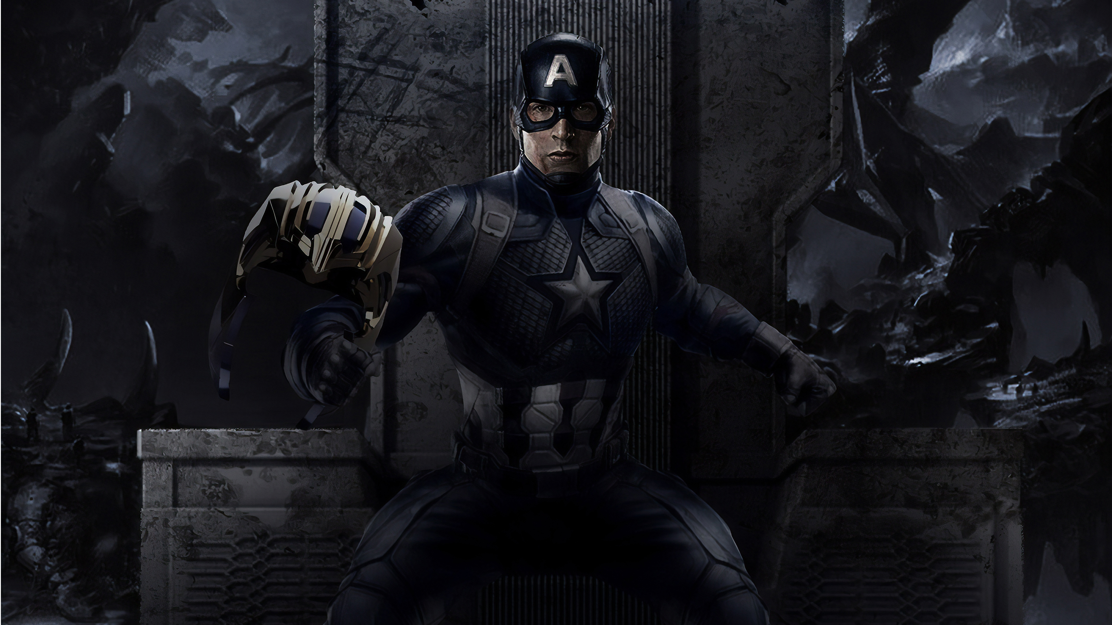 captain america endgame 1562105351 - Captain America Endgame - superheroes wallpapers, hd-wallpapers, digital art wallpapers, captain america wallpapers, behance wallpapers, artwork wallpapers, 4k-wallpapers