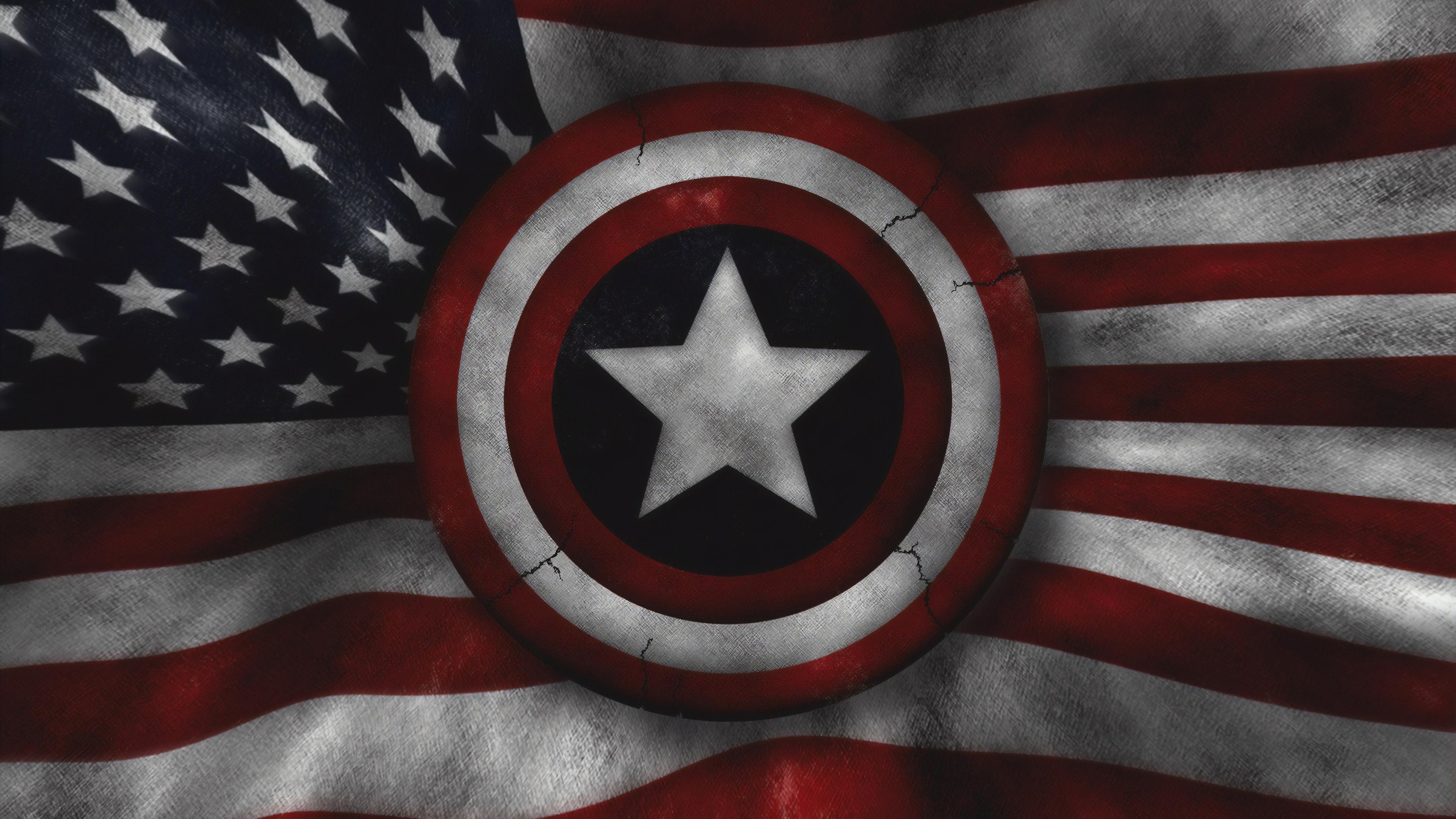Wallpaper 4k Captain America Us Flag 4k Wallpapers Captain