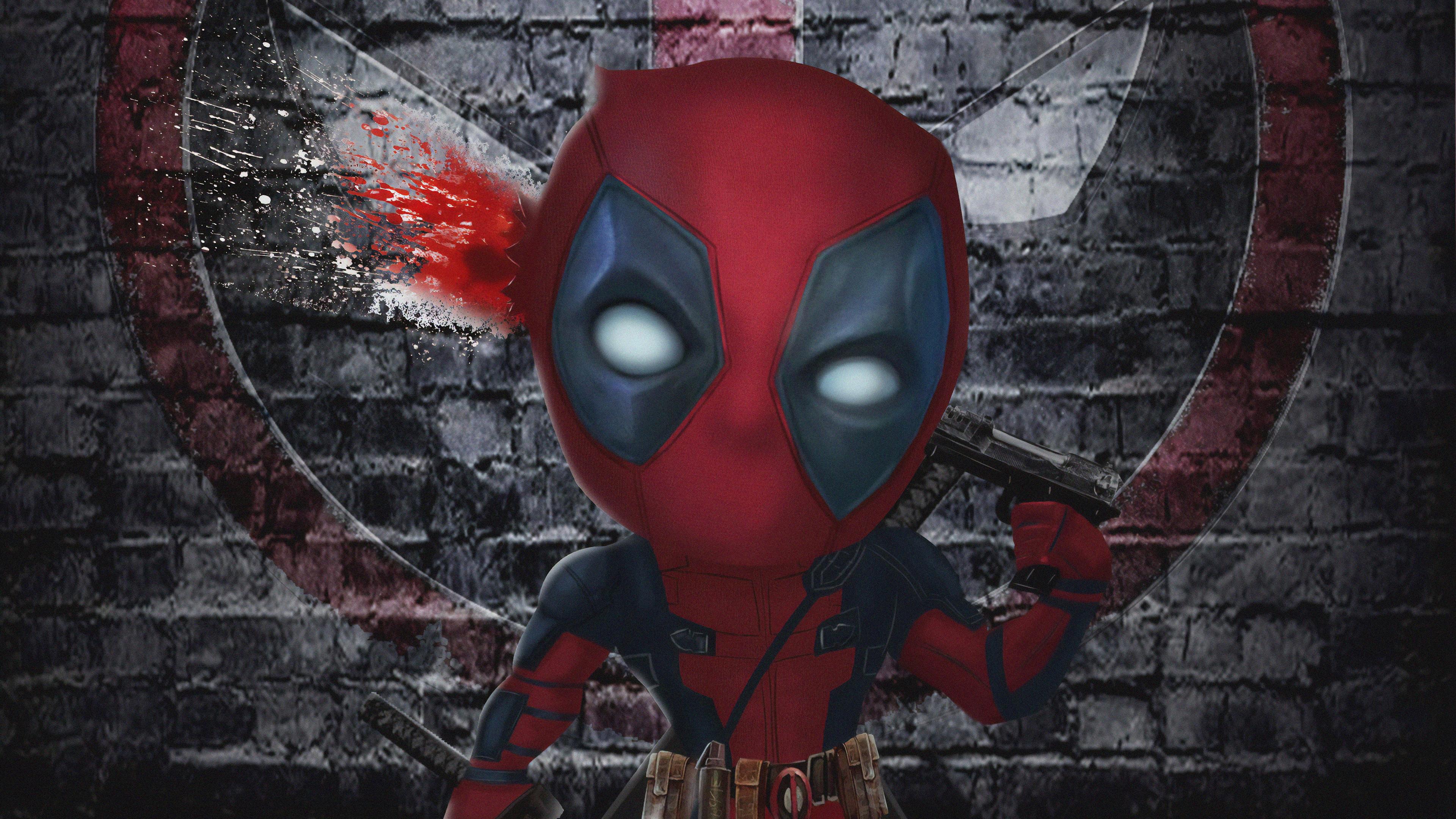 chibi deadpool 1563220157 - Chibi Deadpool - superheroes wallpapers, hd-wallpapers, digital art wallpapers, deadpool wallpapers, artwork wallpapers, artist wallpapers, 4k-wallpapers
