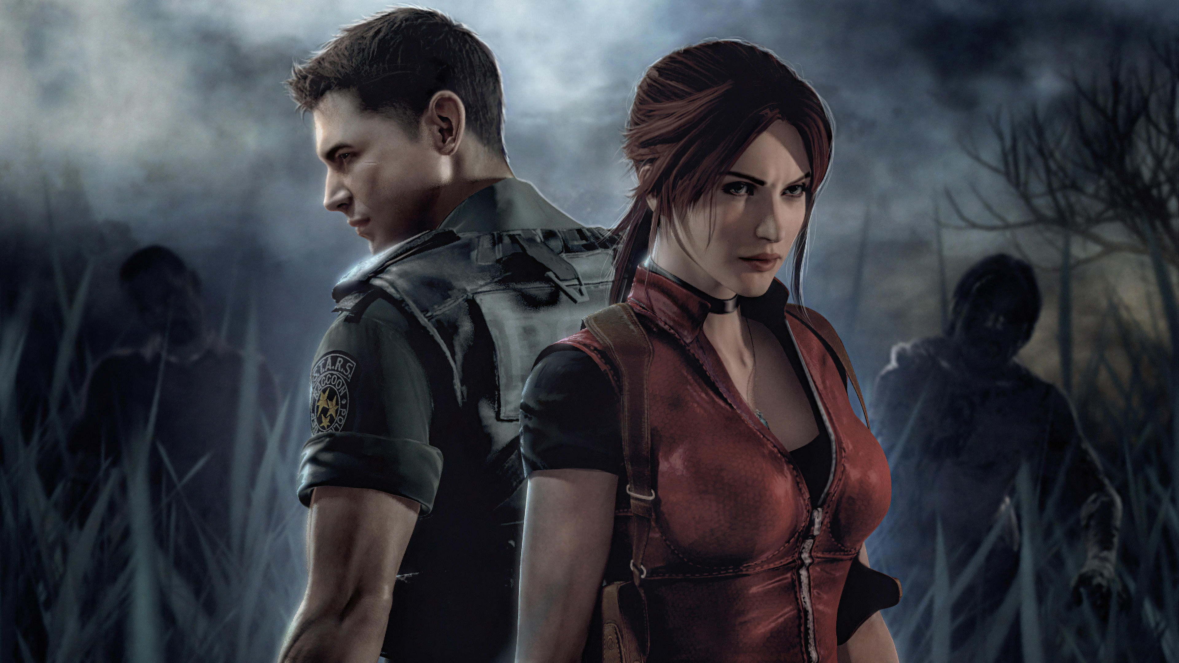 claire redfield and leon resident evil 1563221603 - Claire Redfield And Leon Resident Evil - resident evil 2 wallpapers, leon kennedy wallpapers, hd-wallpapers, games wallpapers, claire redfield wallpapers, 4k-wallpapers, 2019 games wallpapers