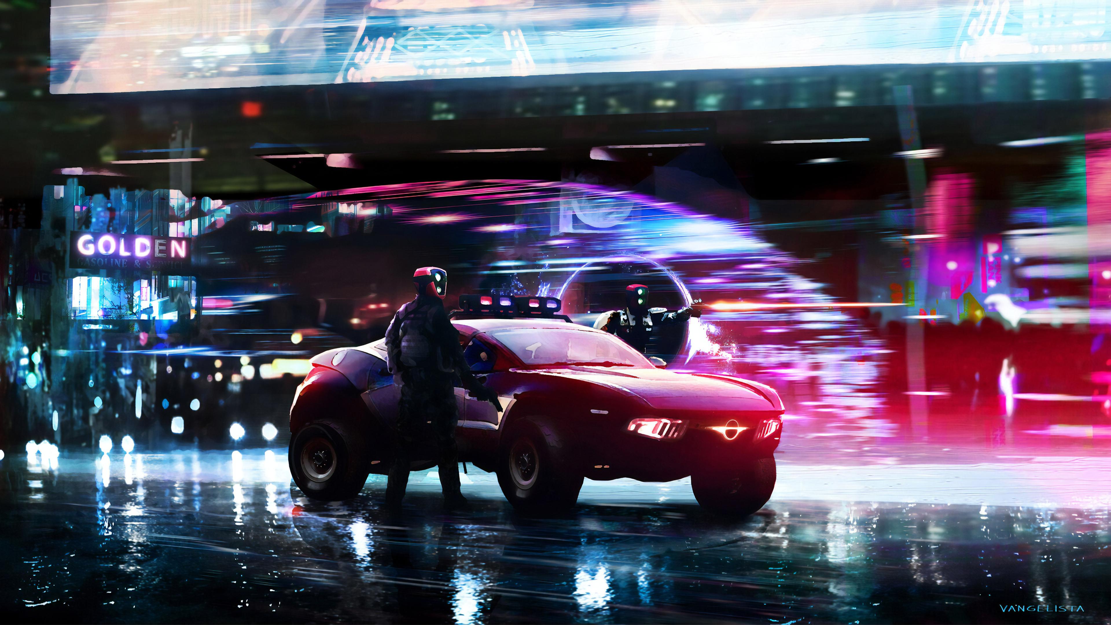 cyberpunk police cars 1563222197 - Cyberpunk Police Cars - hd-wallpapers, digital art wallpapers, cyberpunk wallpapers, artwork wallpapers, artist wallpapers, 4k-wallpapers