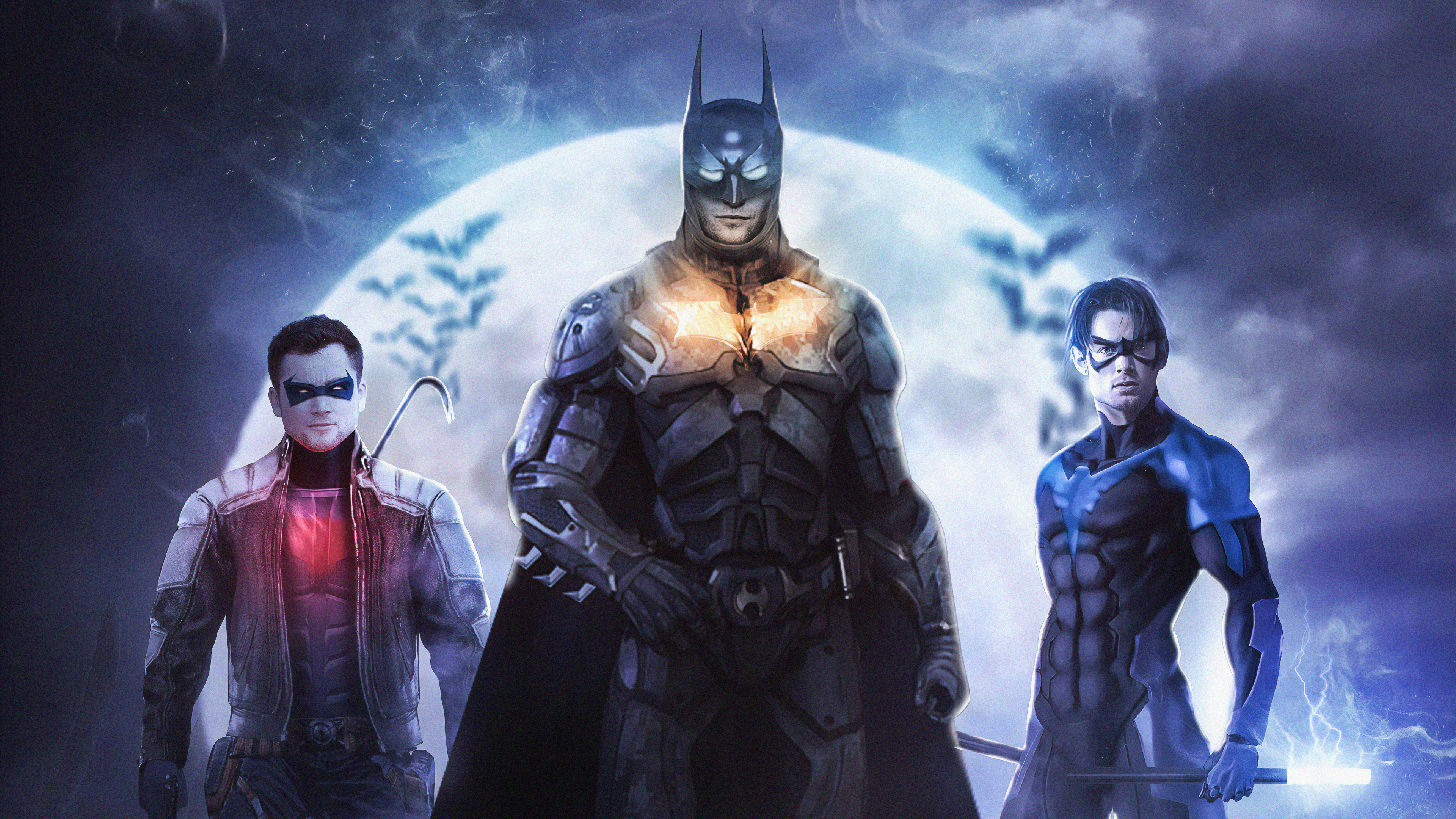 dc bat family 1563220398 - Dc Bat Family - superheroes wallpapers, red hood wallpapers, nightwing wallpapers, hd-wallpapers, digital art wallpapers, batman wallpapers, artwork wallpapers, 4k-wallpapers