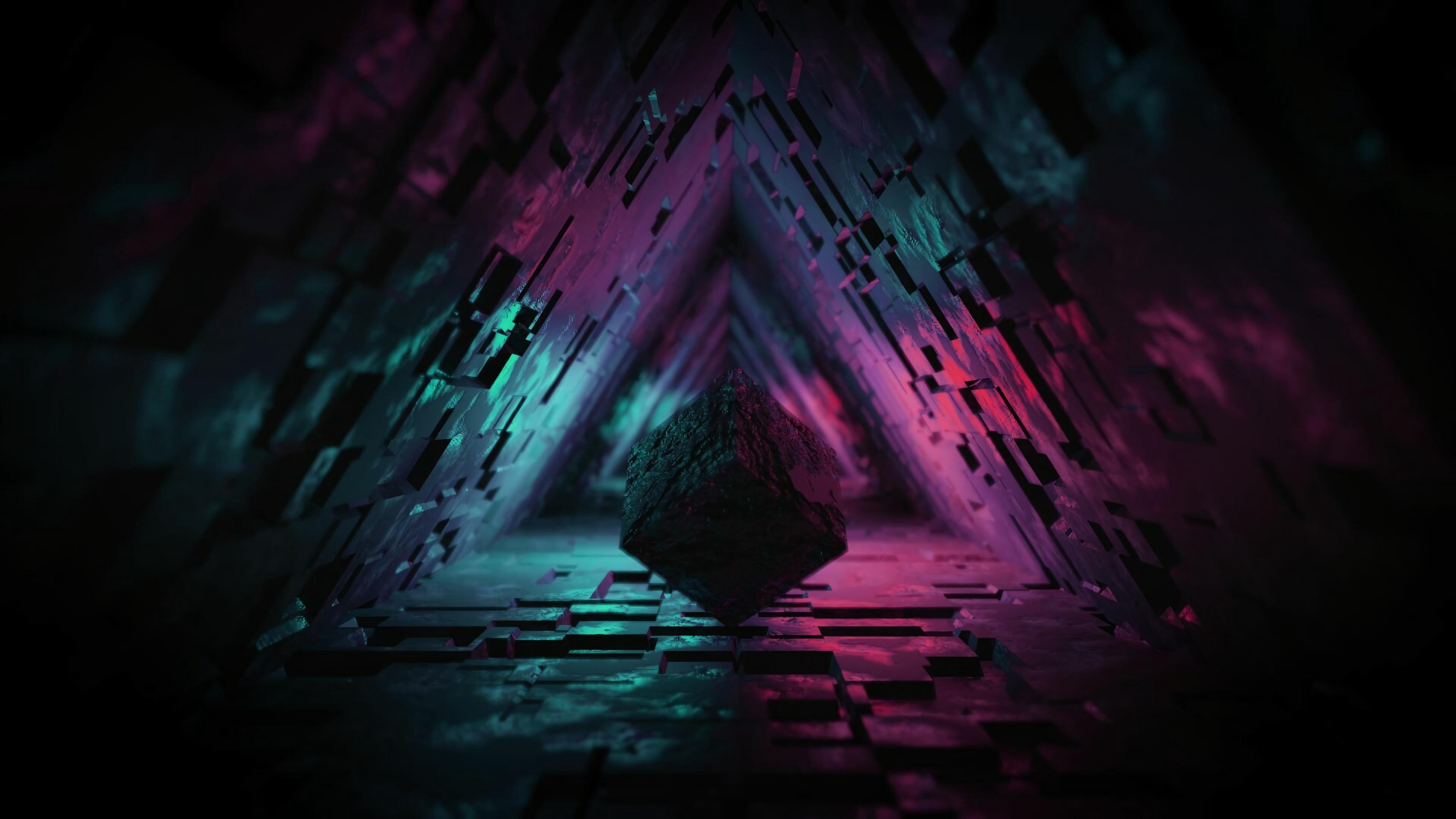 digital cave 3d triangle 1563221536 - Digital Cave 3d Triangle - triangle wallpapers, hd-wallpapers, digital art wallpapers, artstation wallpapers, abstract wallpapers, 4k-wallpapers, 3d wallpapers