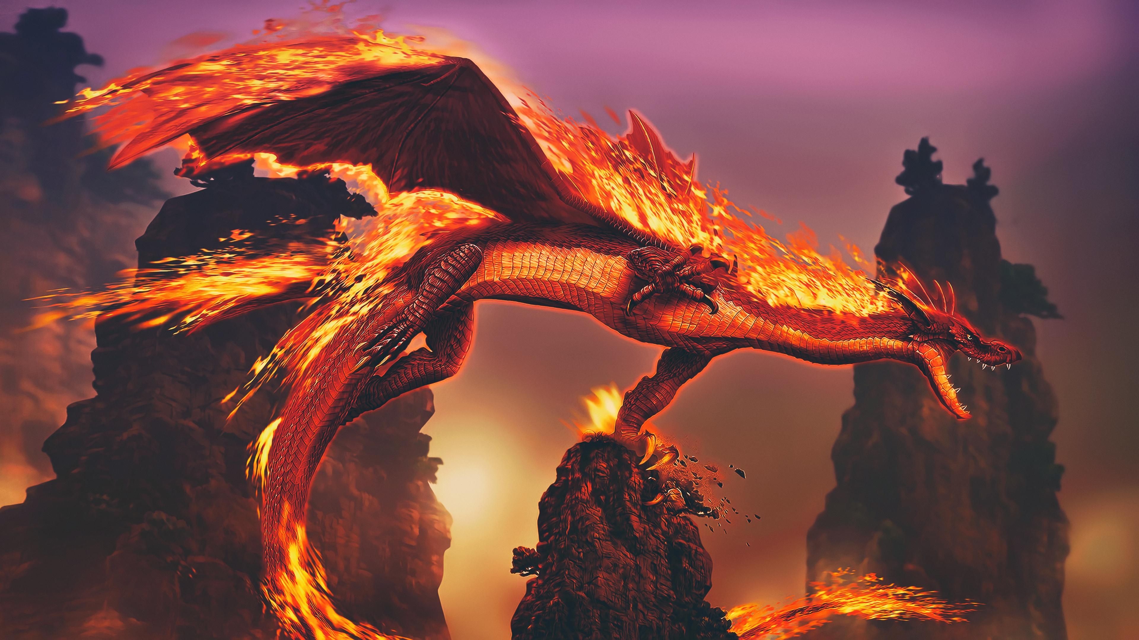 fire dragon 1563222043 - Fire Dragon - hd-wallpapers, dragon wallpapers, digital art wallpapers, artwork wallpapers, artist wallpapers, 4k-wallpapers