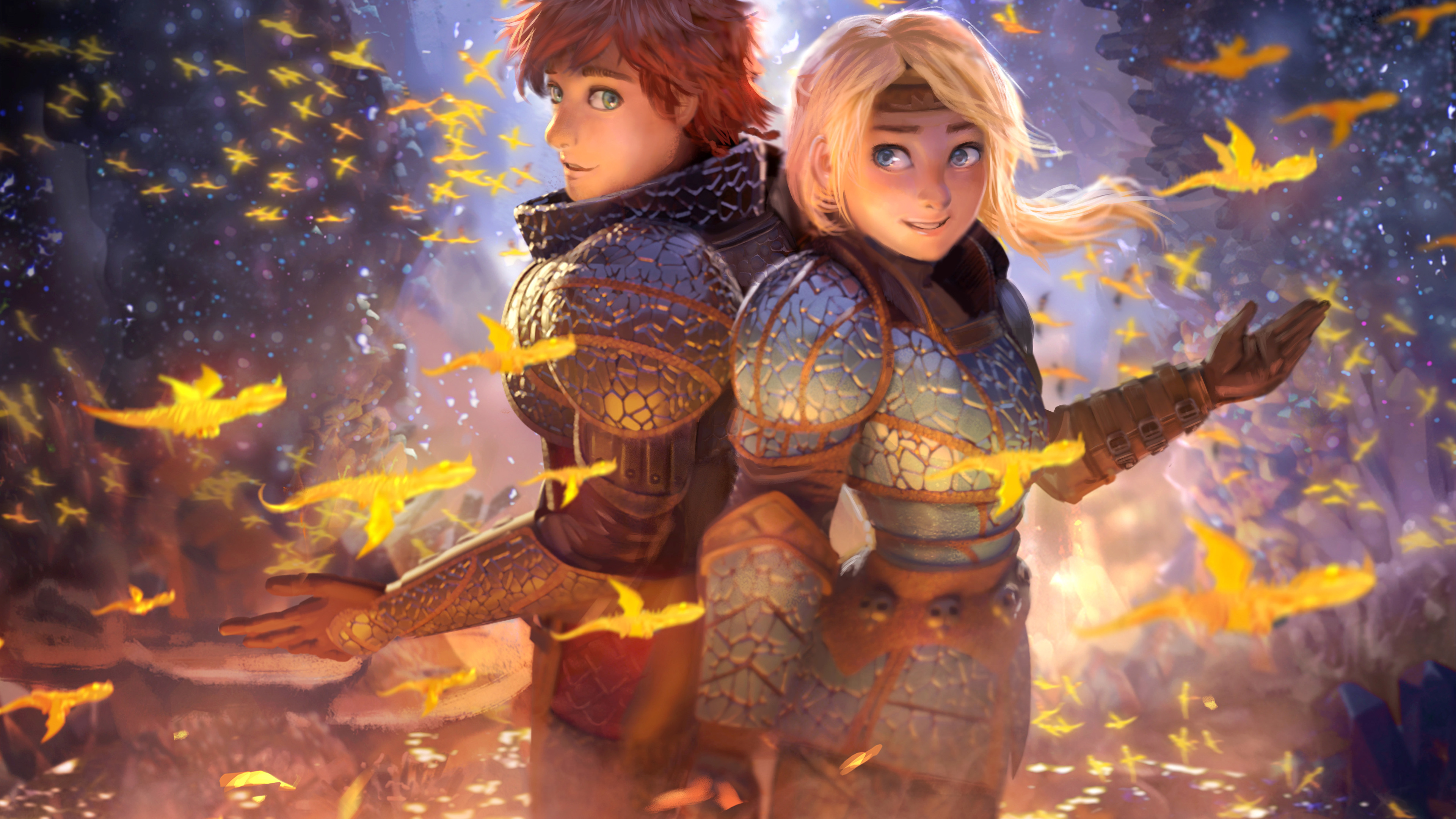 hiccup and astrid 1563220457 - Hiccup And Astrid - movies wallpapers, how to train your dragon wallpapers, how to train your dragon the hidden world wallpapers, hd-wallpapers, digital art wallpapers, deviantart wallpapers, artwork wallpapers, artist wallpapers, 5k wallpapers, 4k-wallpapers, 2019 movies wallpapers