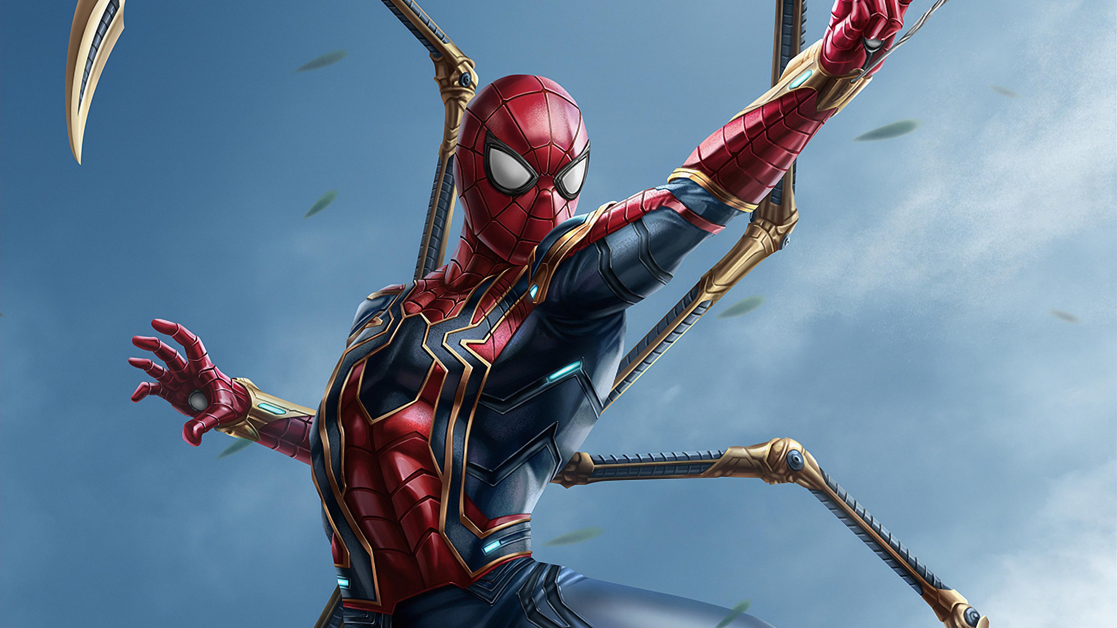 Wallpaper 4k Iron Spiderman New Suit 4k Wallpapers Artist
