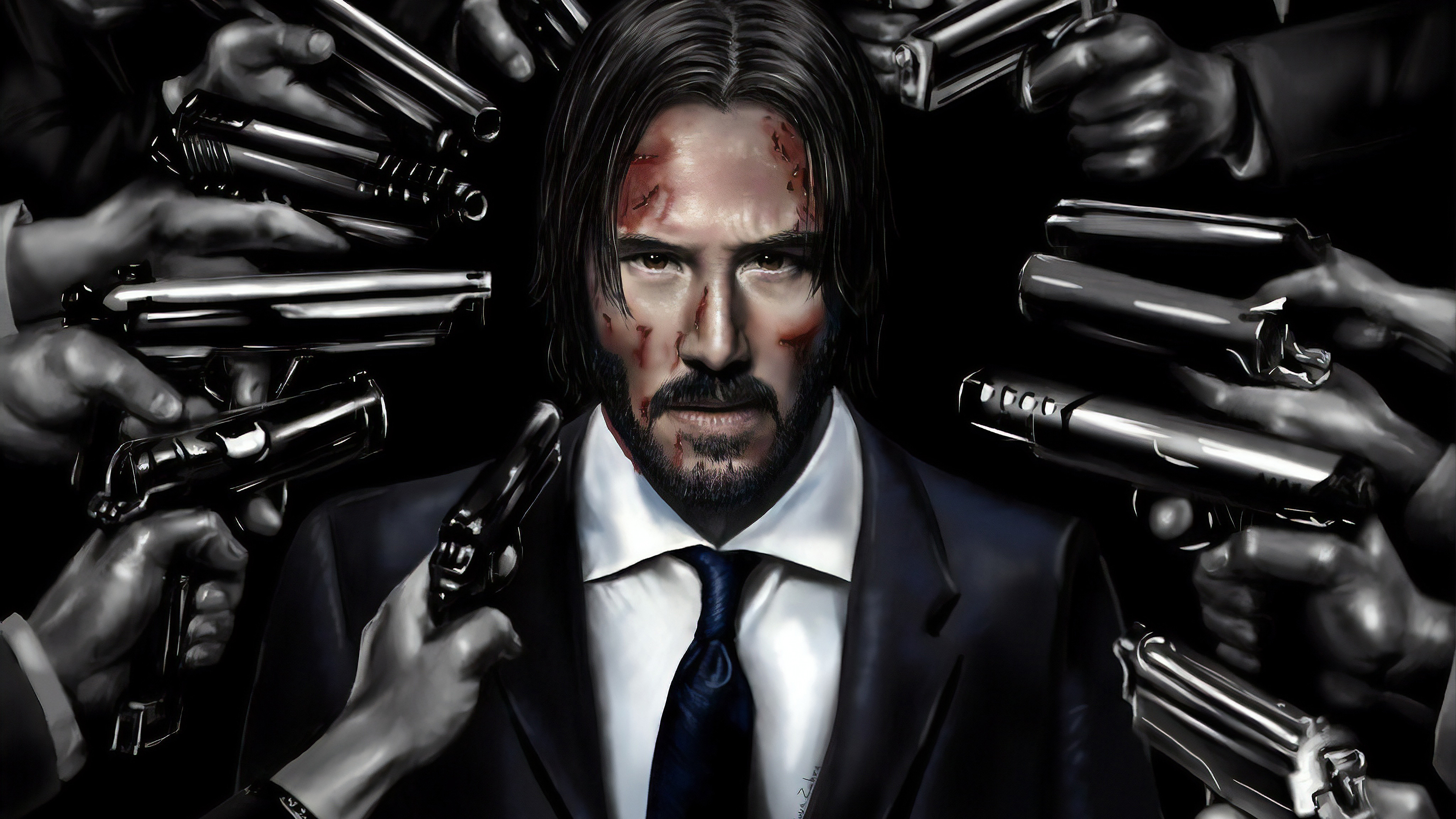 john wick art 1562107096 - John Wick Art - keanu reeves wallpapers, john wick wallpapers, hd-wallpapers, deviantart wallpapers, artwork wallpapers, 4k-wallpapers