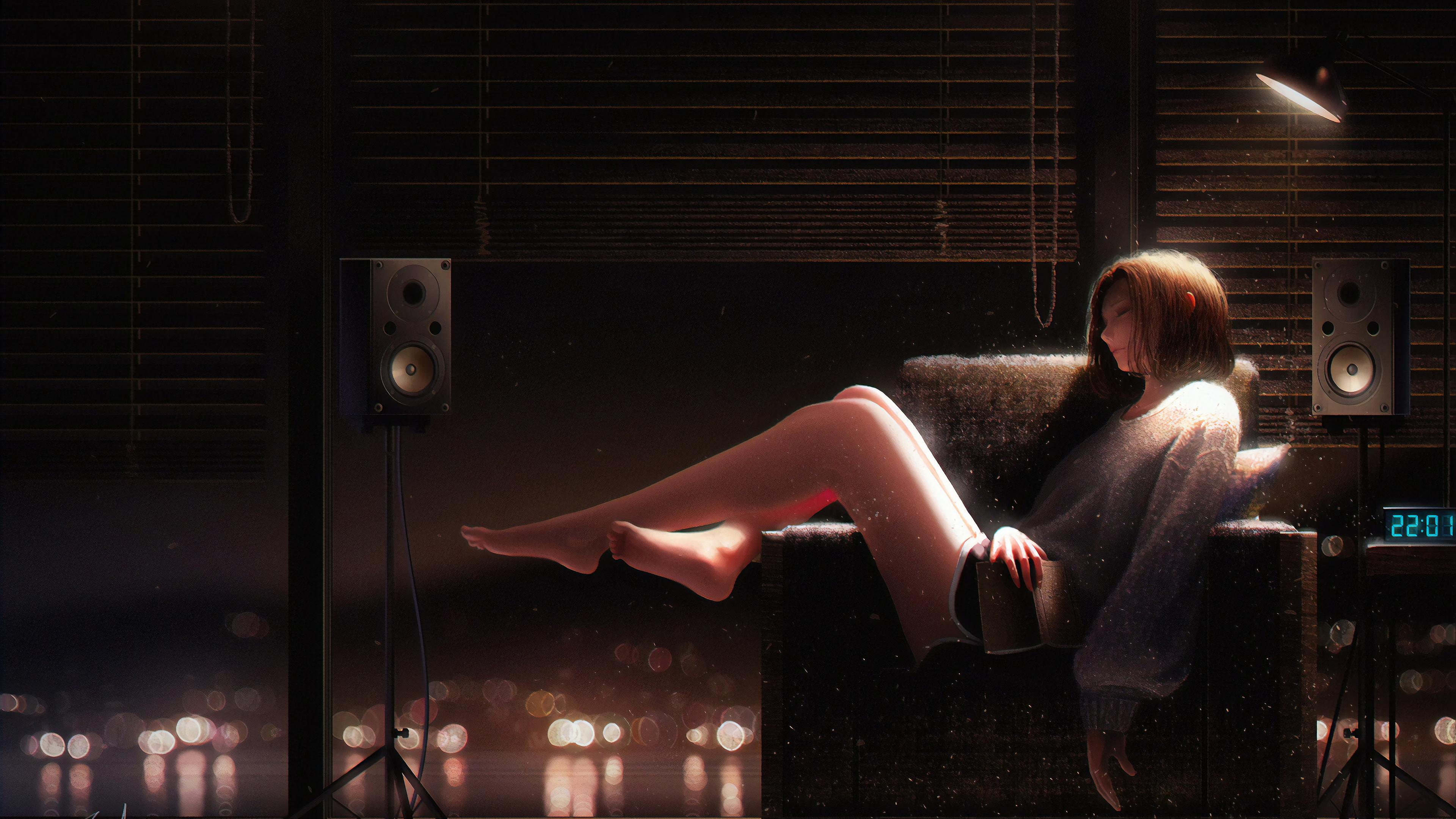 lost in your thoughts 1563222538 - Lost In Your Thoughts - sad wallpapers, hd-wallpapers, artwork wallpapers, artist wallpapers, anime wallpapers, anime girl wallpapers, alone wallpapers, 4k-wallpapers