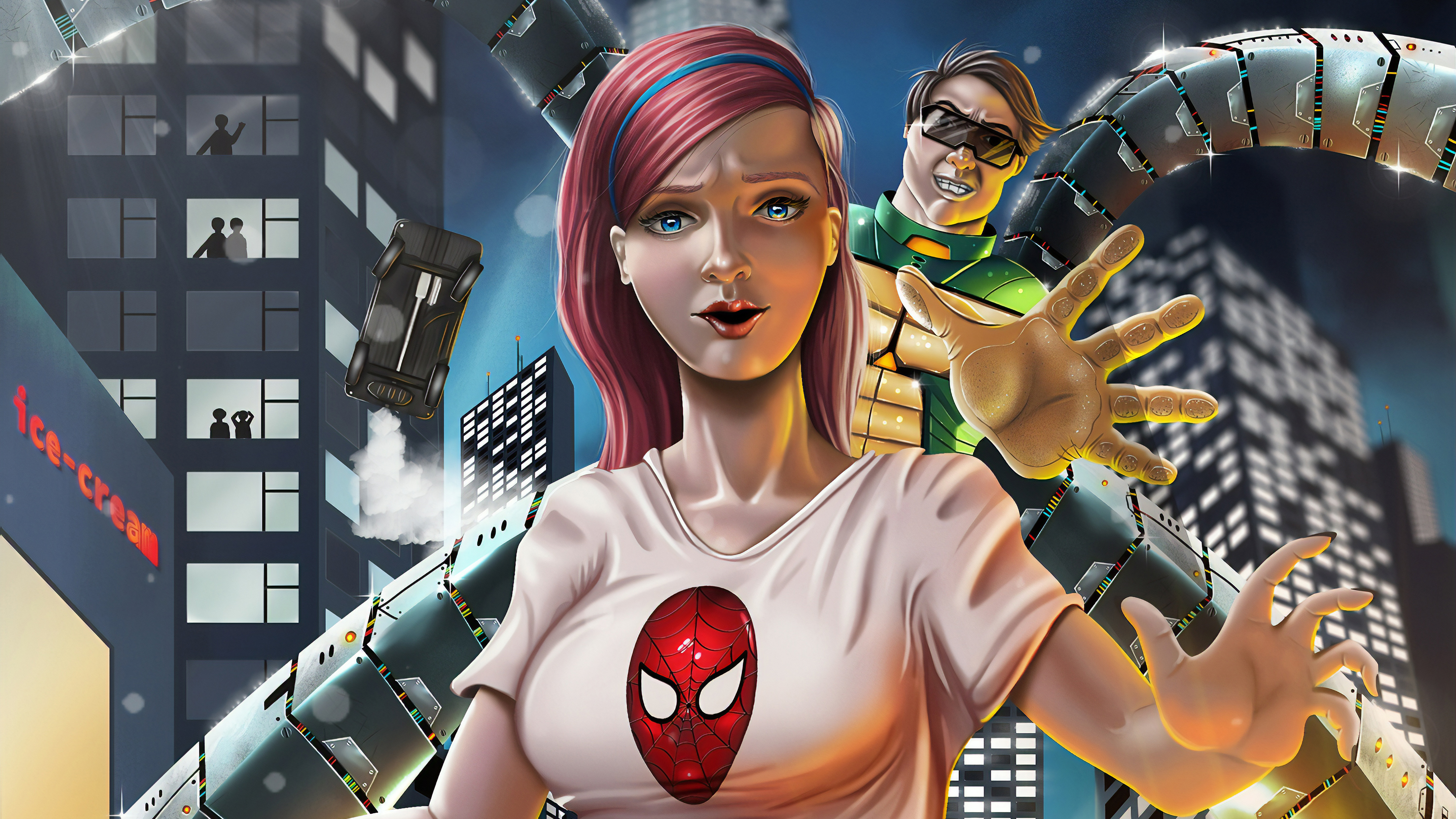 Wallpaper 4k Mary Jane Watson And Dr Octupus 4k Wallpapers Artist
