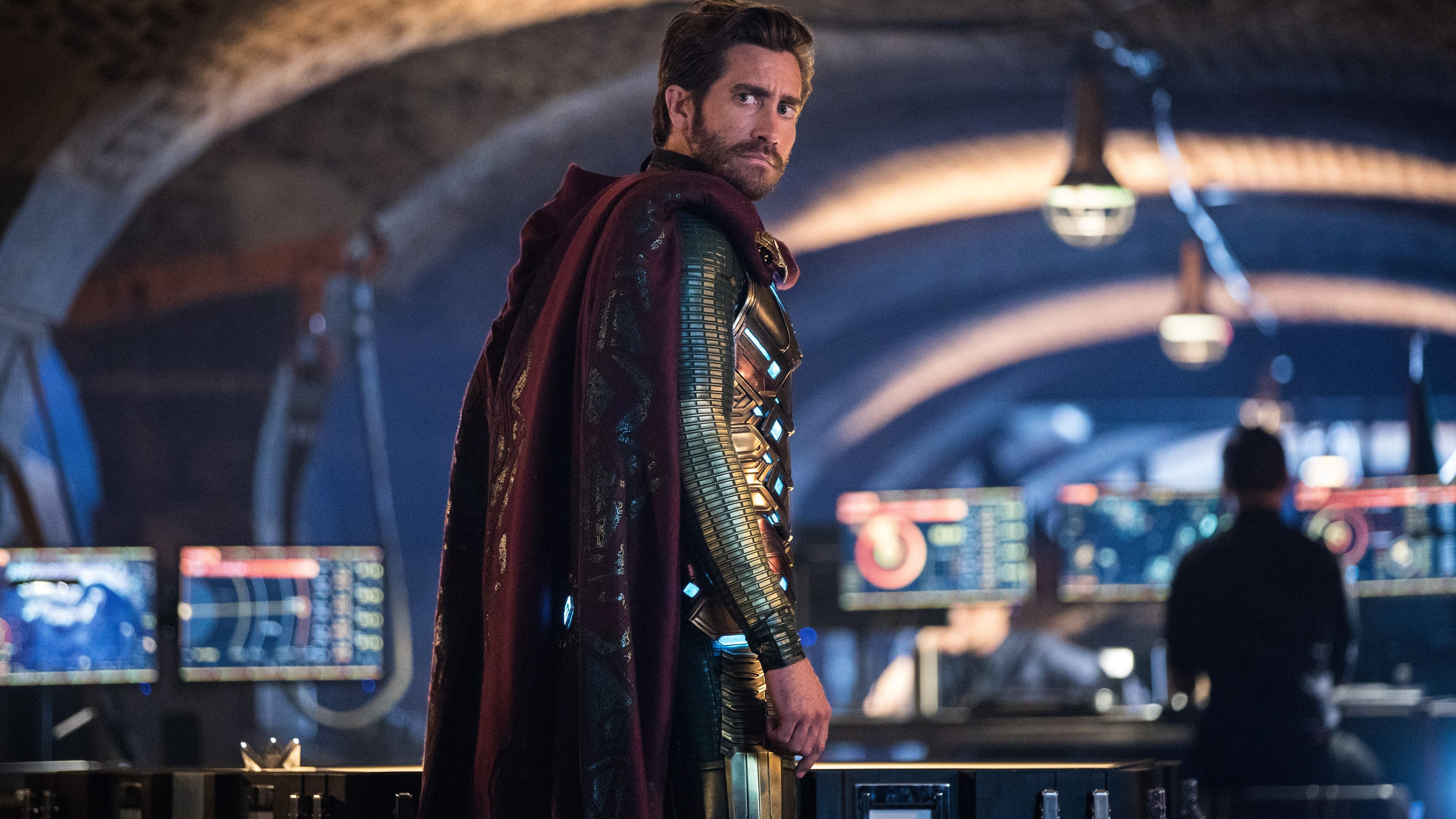 mysterio jake gyllenhaal spider man far from home 1563220839 - Mysterio Jake Gyllenhaal Spider Man Far From Home - superheroes wallpapers, spiderman far from home wallpapers, mysterio wallpapers, movies wallpapers, hd-wallpapers, 5k wallpapers, 4k-wallpapers, 2019 movies wallpapers