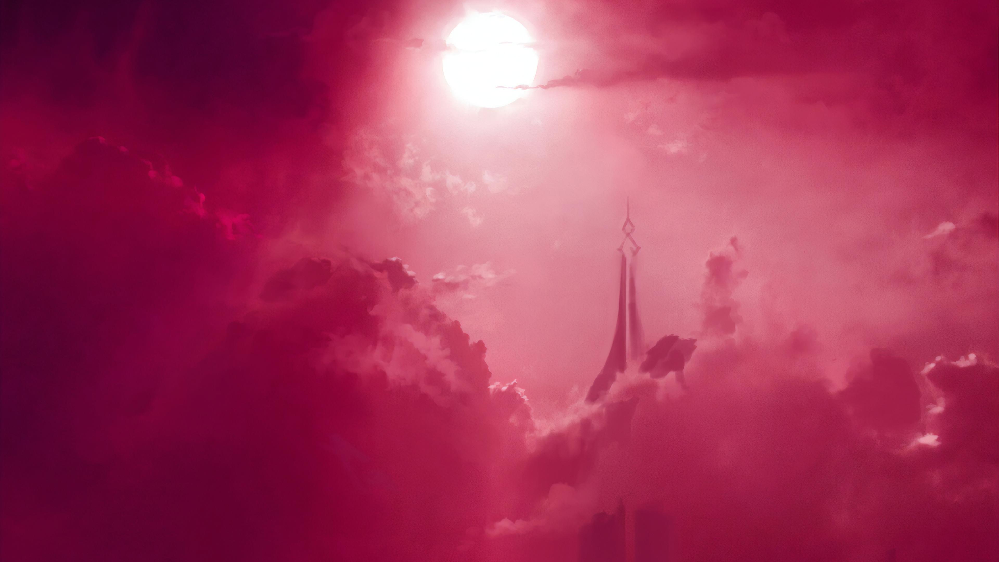 pink sky digital art 1563222001 - Pink Sky Digital Art - sky wallpapers, pink wallpapers, hd-wallpapers, digital art wallpapers, artwork wallpapers, artist wallpapers, 4k-wallpapers