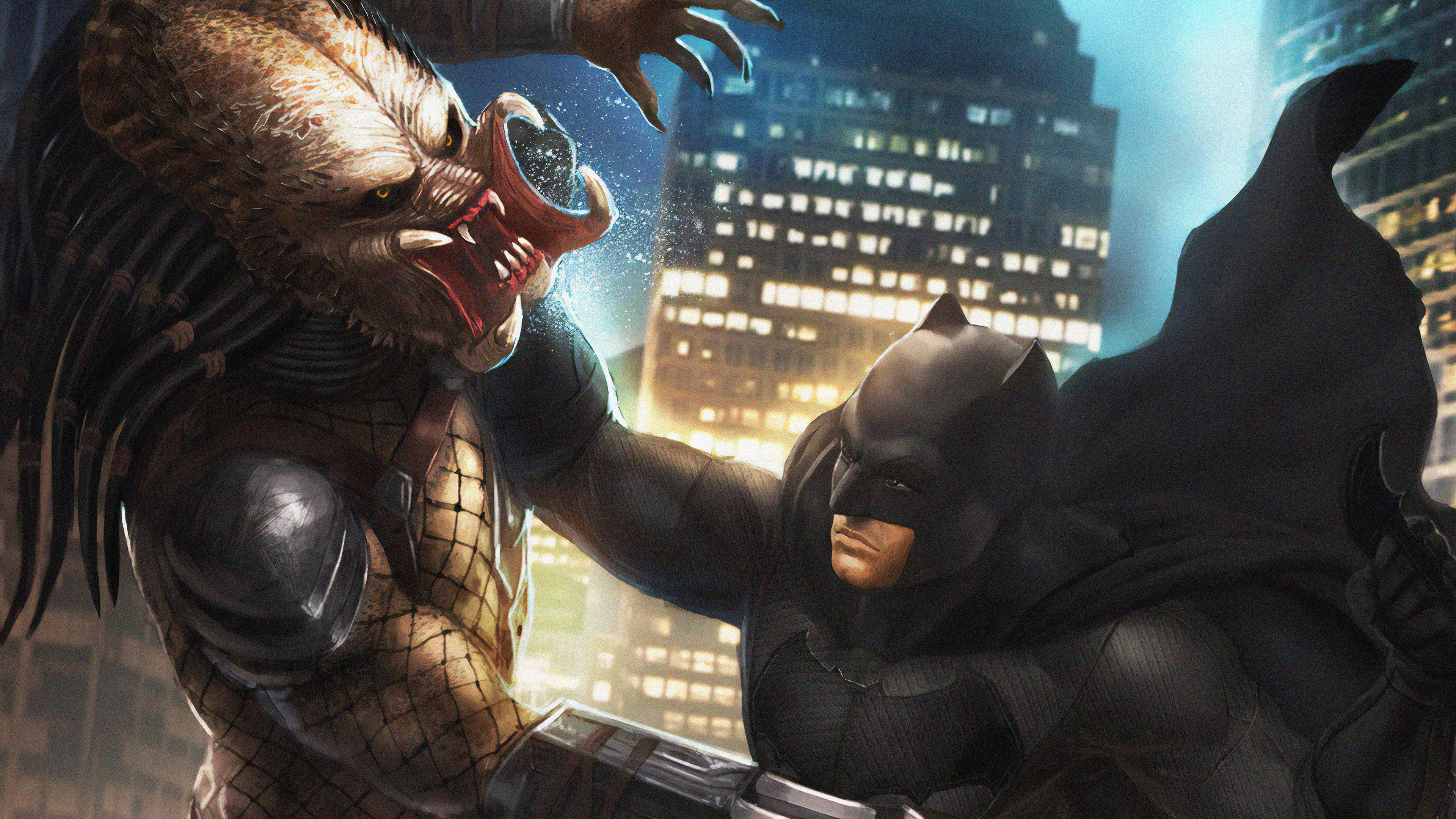 predator vs batman 1563220286 - Predator Vs Batman - superheroes wallpapers, predator wallpapers, hd-wallpapers, digital art wallpapers, batman wallpapers, artwork wallpapers, 4k-wallpapers