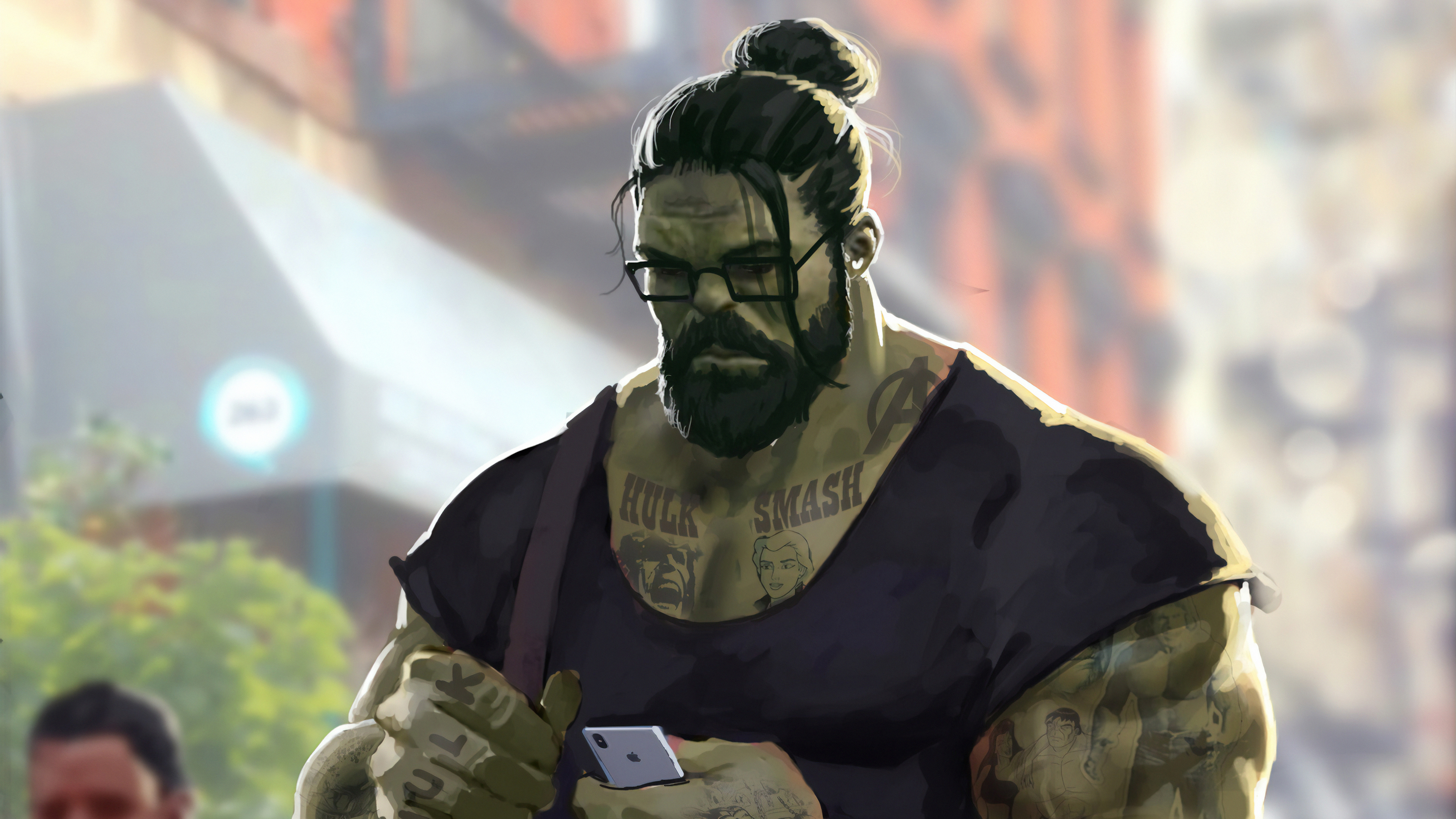 professor hulk man bun 1562106118 - Professor Hulk Man Bun - superheroes wallpapers, hulk wallpapers, hd-wallpapers, digital art wallpapers, artwork wallpapers, artstation wallpapers, 4k-wallpapers