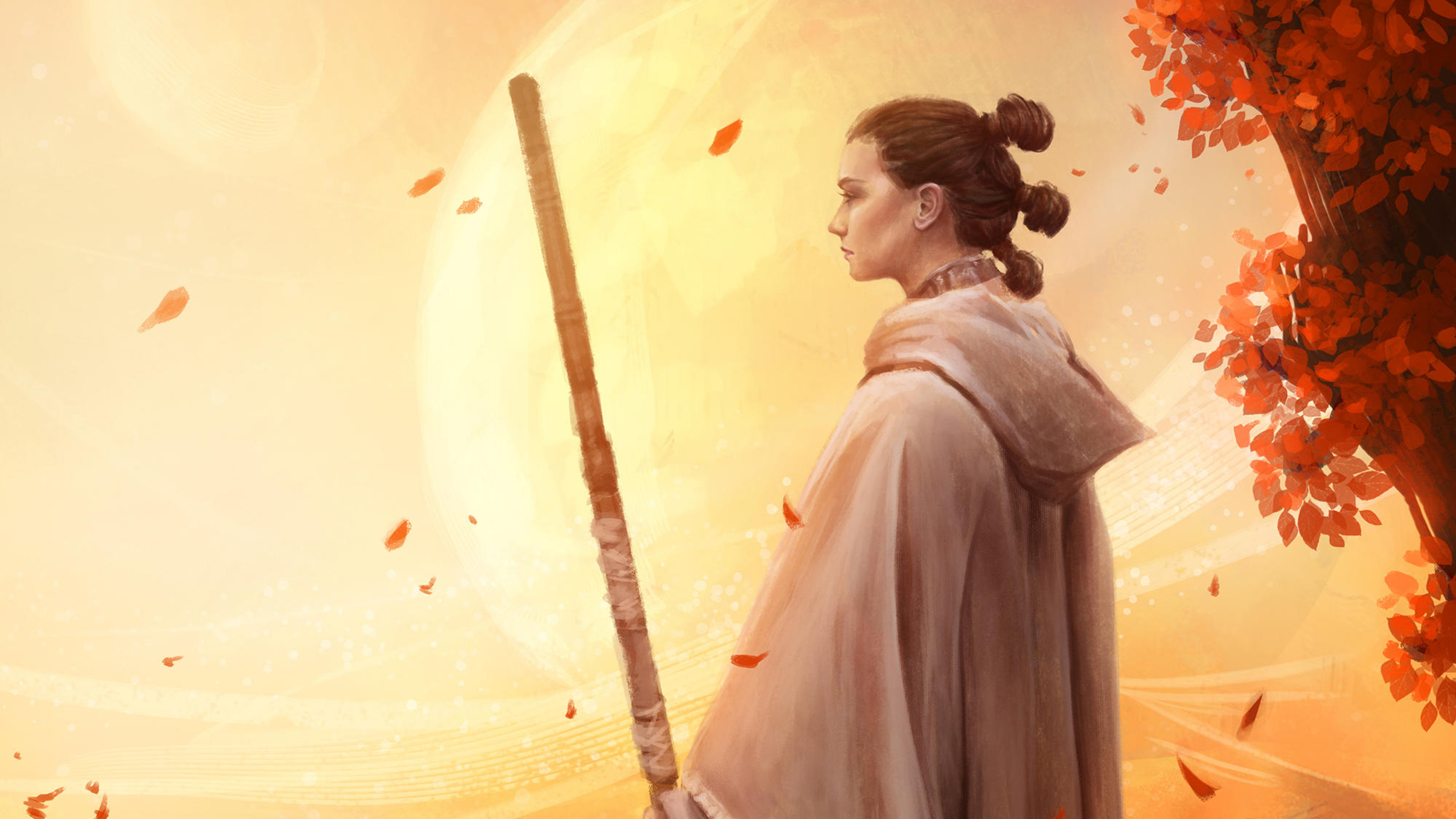 Wallpaper 4k Rey With Bb8 4k Wallpapers 5k Wallpapers