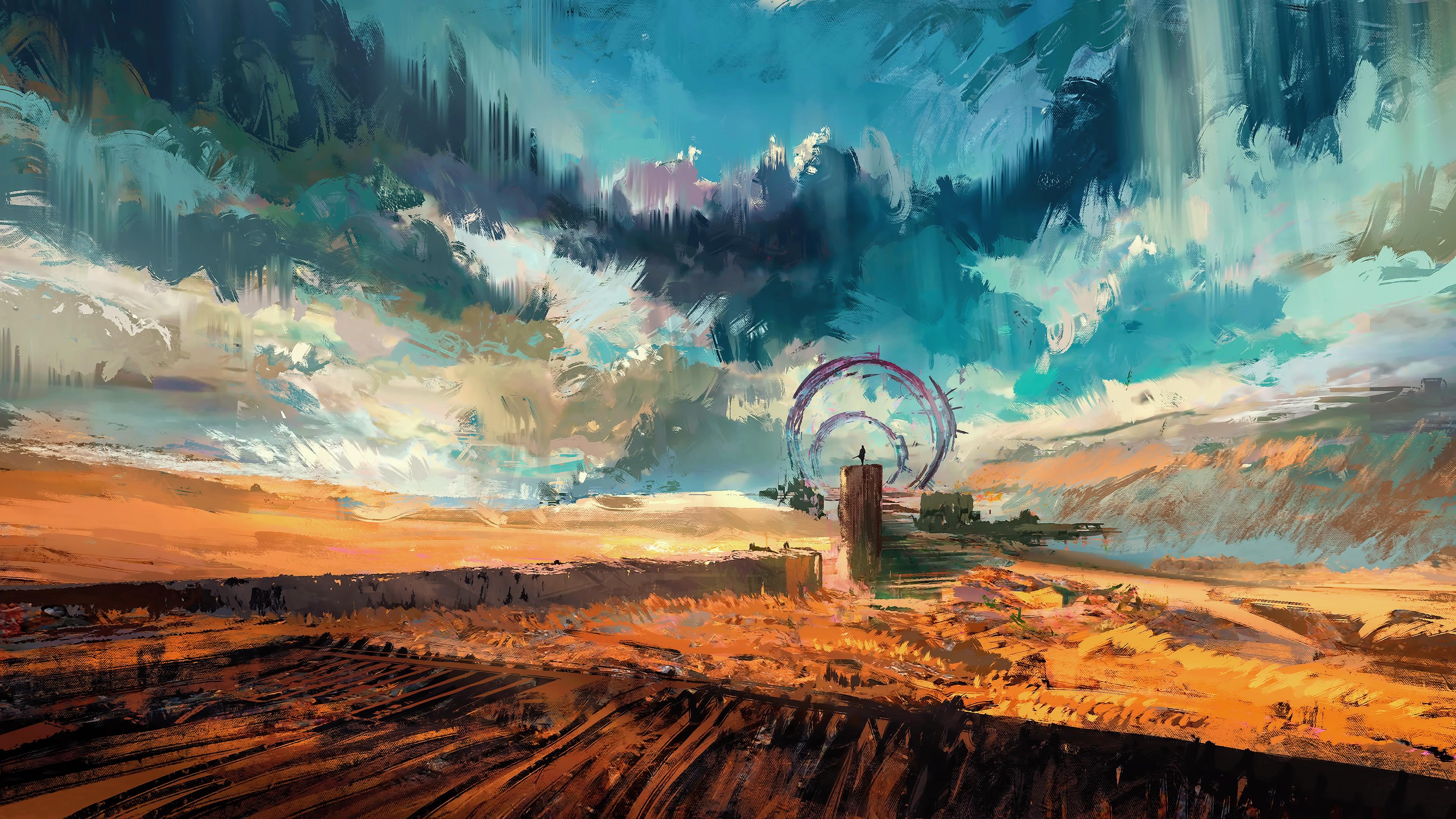 4k science fiction wallpapers cyber hd artwork digital artist backgrounds widescreen