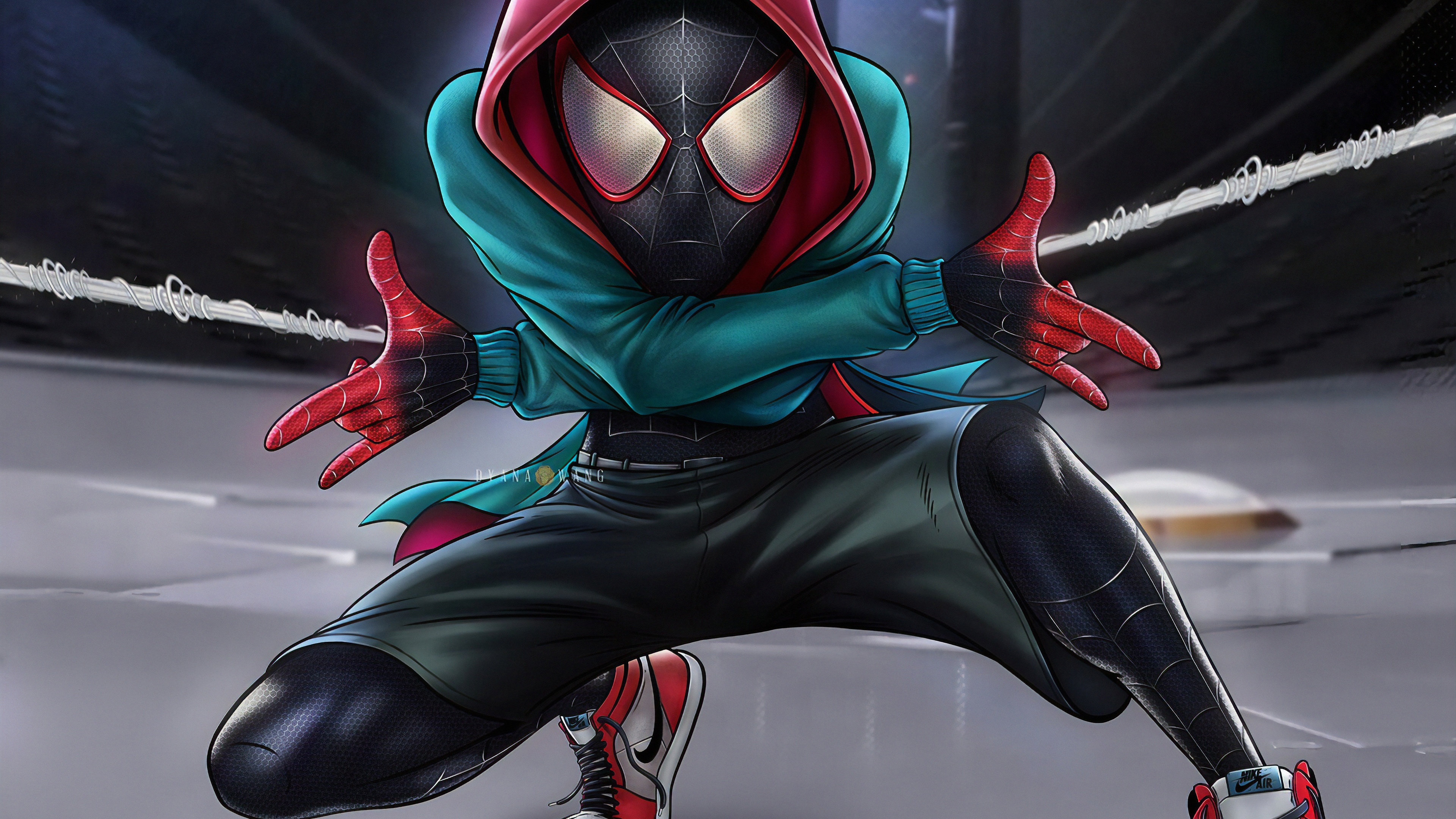 Wallpaper 4k Spiderman 4k Miles Morales 4k Wallpapers Artist
