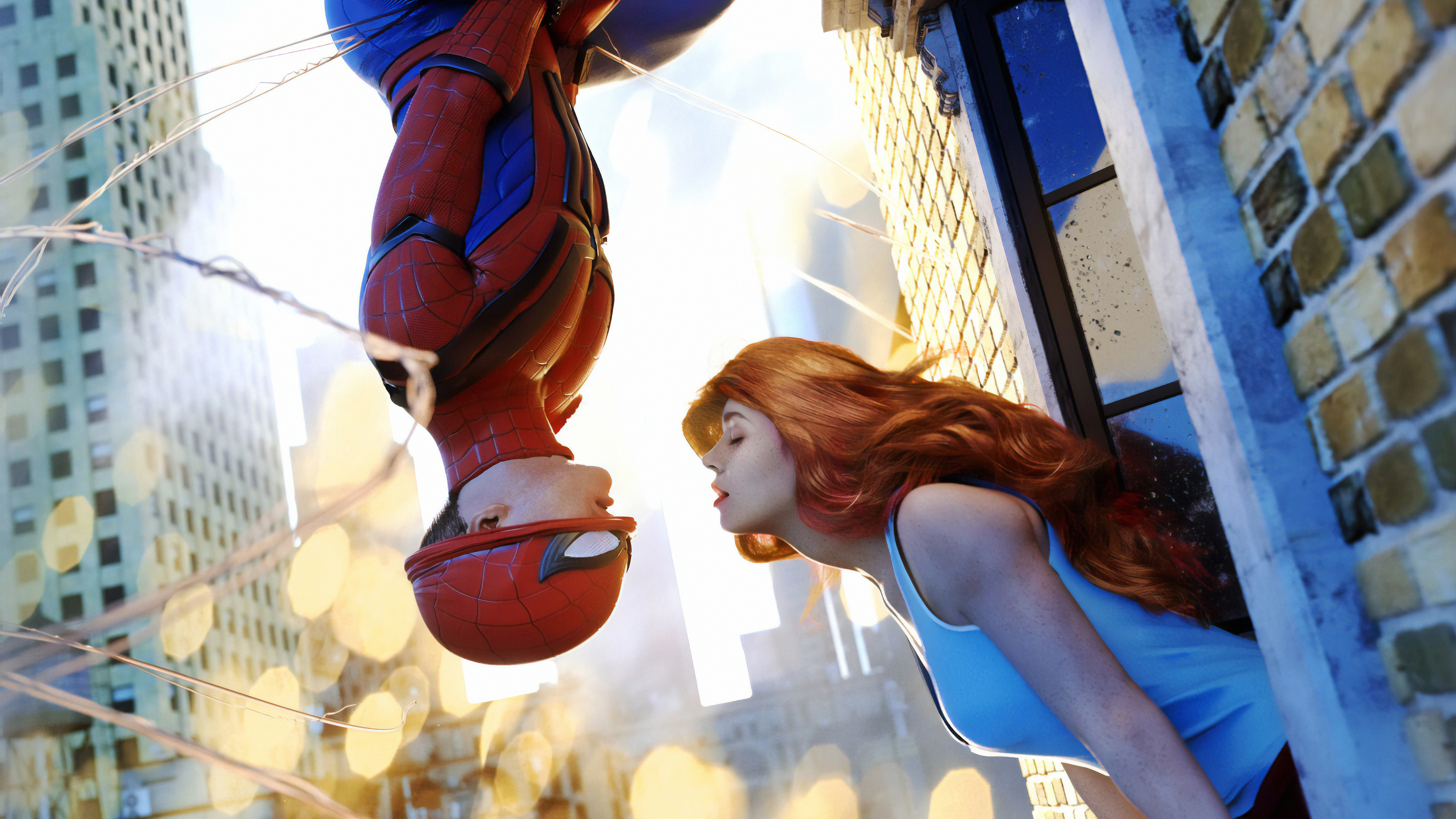 spiderman before we go 1562106120 - Spiderman Before We Go - superheroes wallpapers, spiderman wallpapers, mary jane wallpapers, hd-wallpapers, digital art wallpapers, artwork wallpapers, artstation wallpapers, art wallpapers, 4k-wallpapers