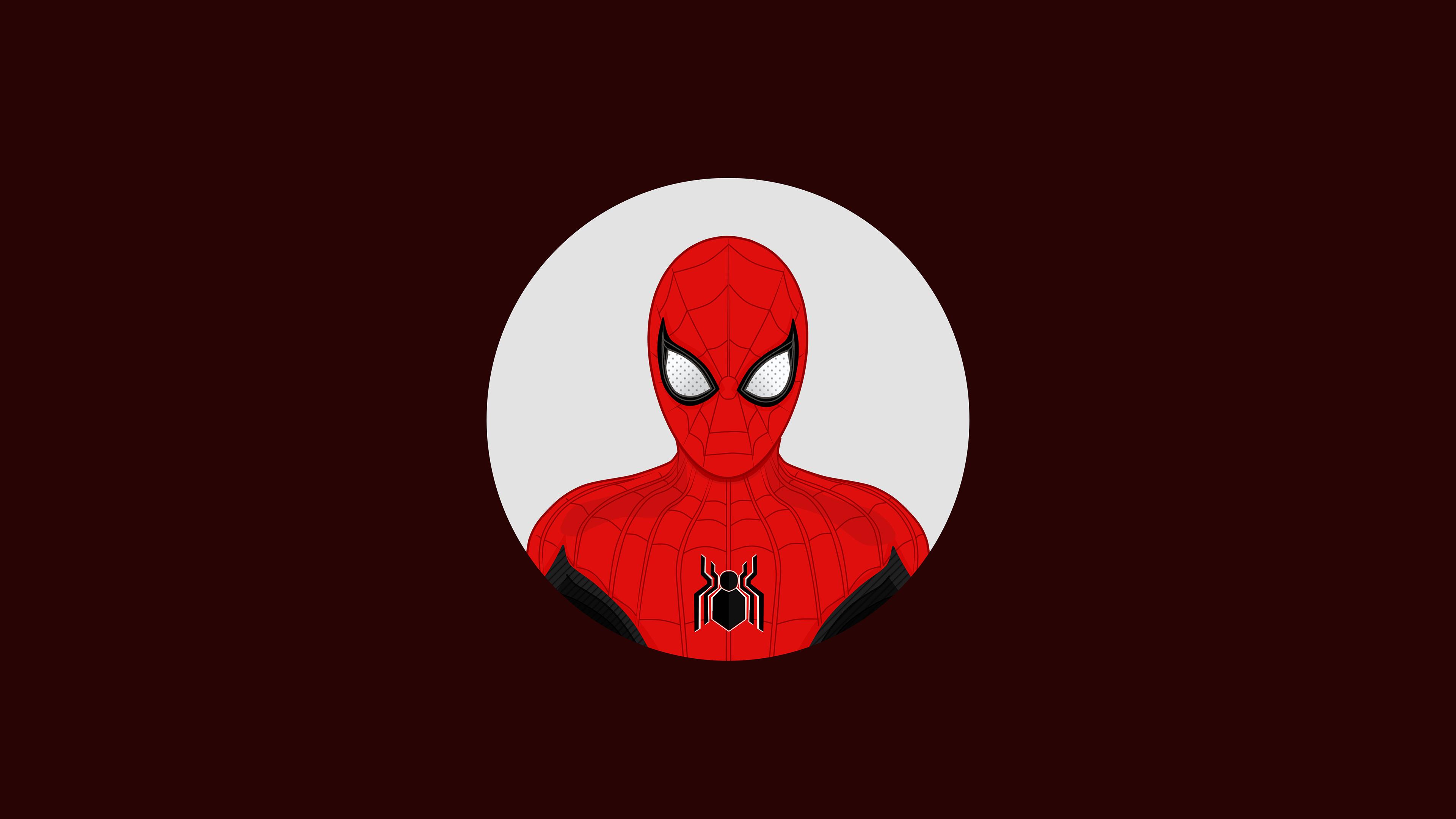 spiderman far from home minimal 1563219640 - Spiderman Far From Home Minimal - superheroes wallpapers, spiderman wallpapers, hd-wallpapers, behance wallpapers, artwork wallpapers, 4k-wallpapers