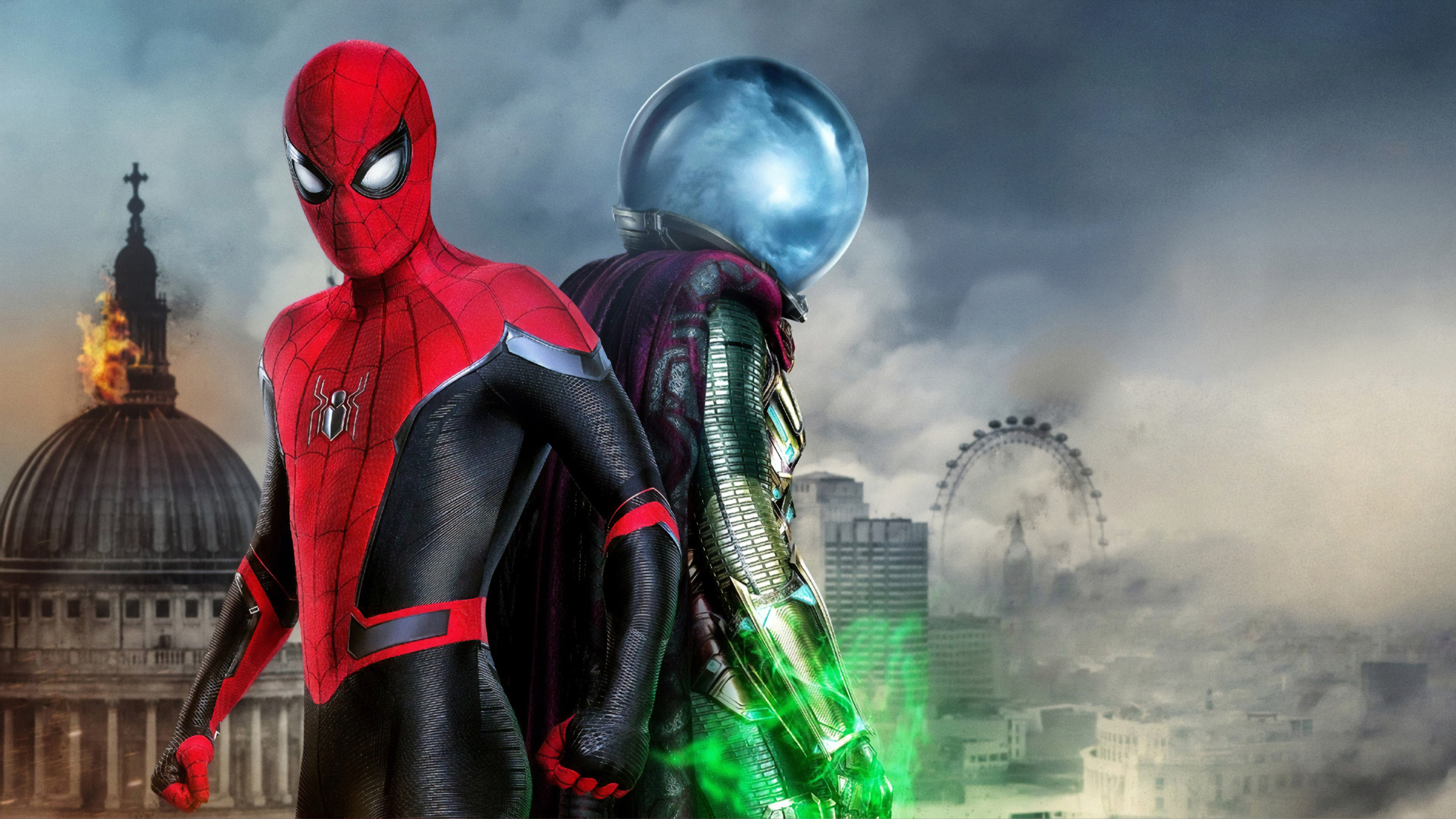 Wallpaper 4k Spiderman Far From Home Movie 4k 2019 Movies