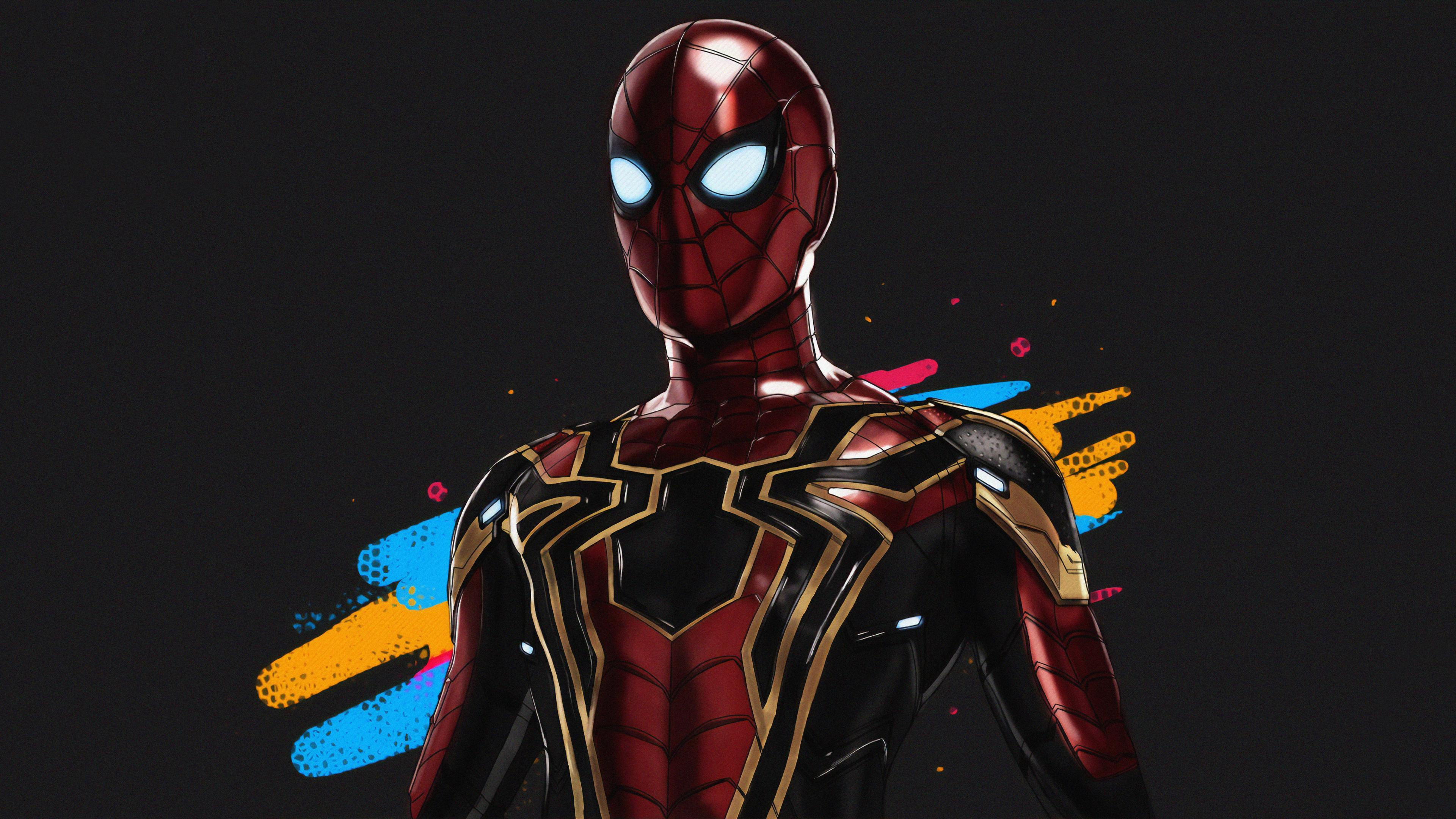 Wallpaper 4k Spiderman Iron Art 4k Wallpapers Art