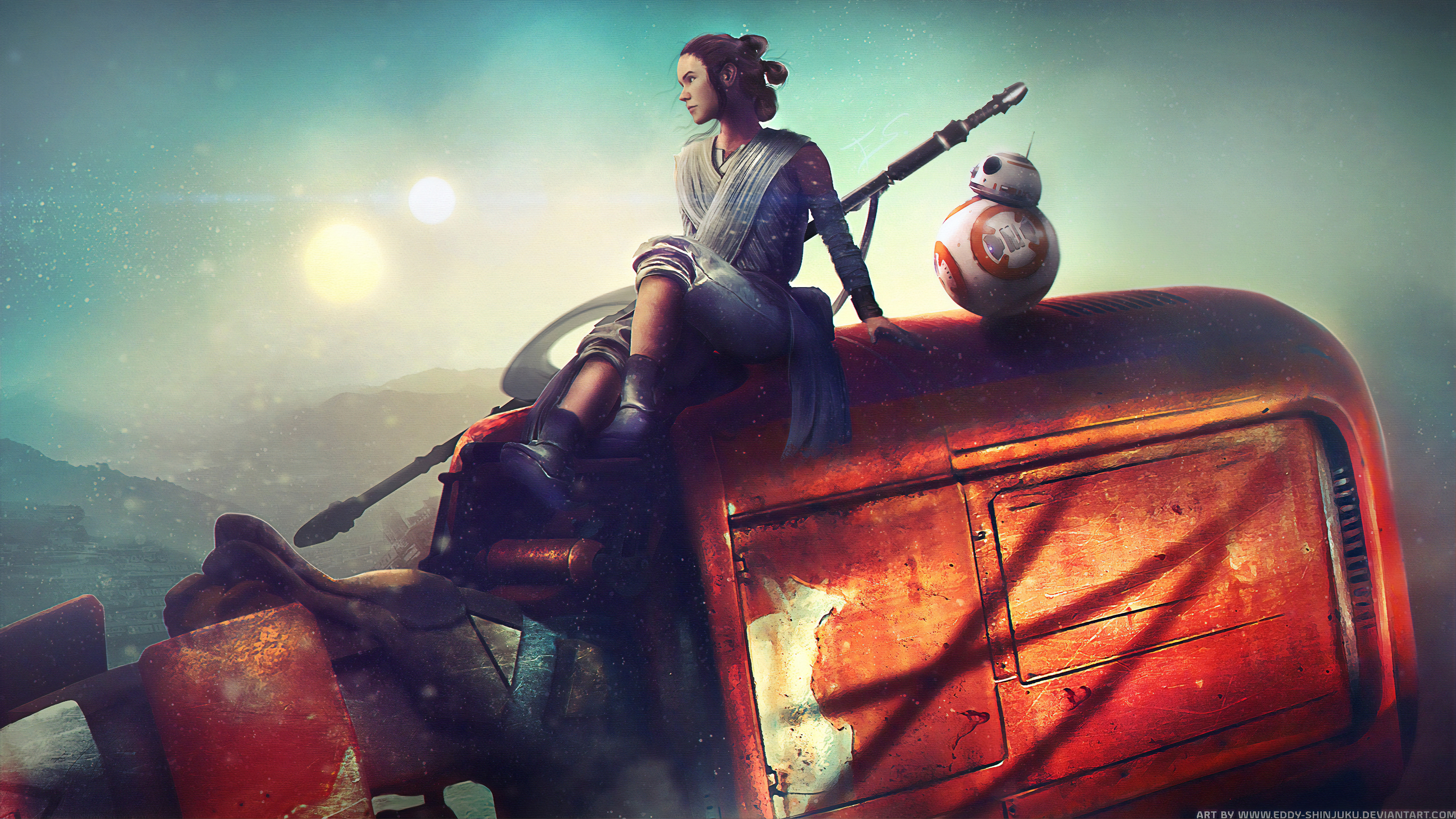 star wars the force awakens 1562107065 - Star Wars The Force Awakens - star wars wallpapers, rey wallpapers, hd-wallpapers, digital art wallpapers, deviantart wallpapers, bb 8 wallpapers, artwork wallpapers, artist wallpapers, 4k-wallpapers