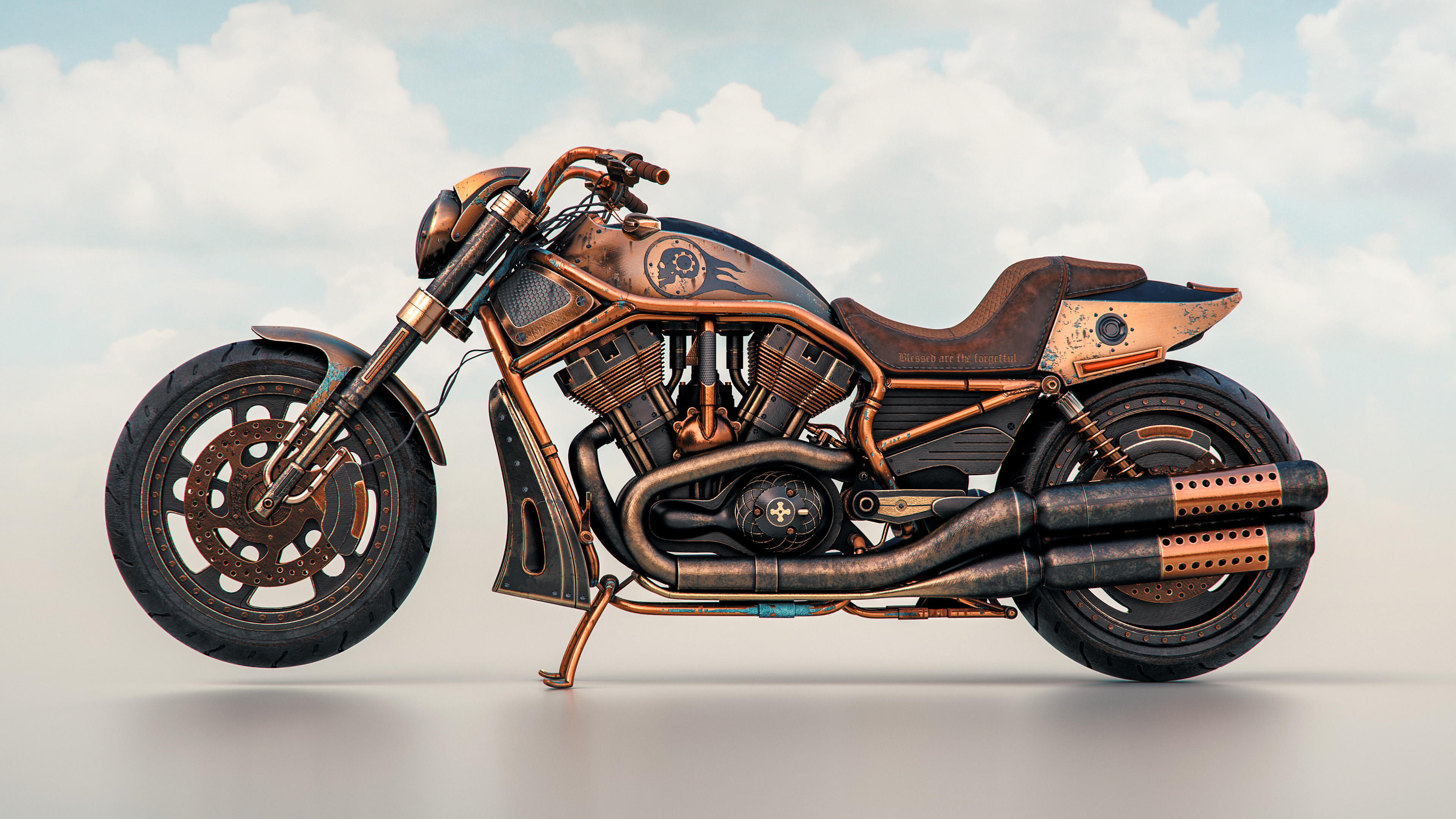 the copper rider 1563222316 - The Copper Rider - hd-wallpapers, bikes wallpapers, behance wallpapers, 4k-wallpapers