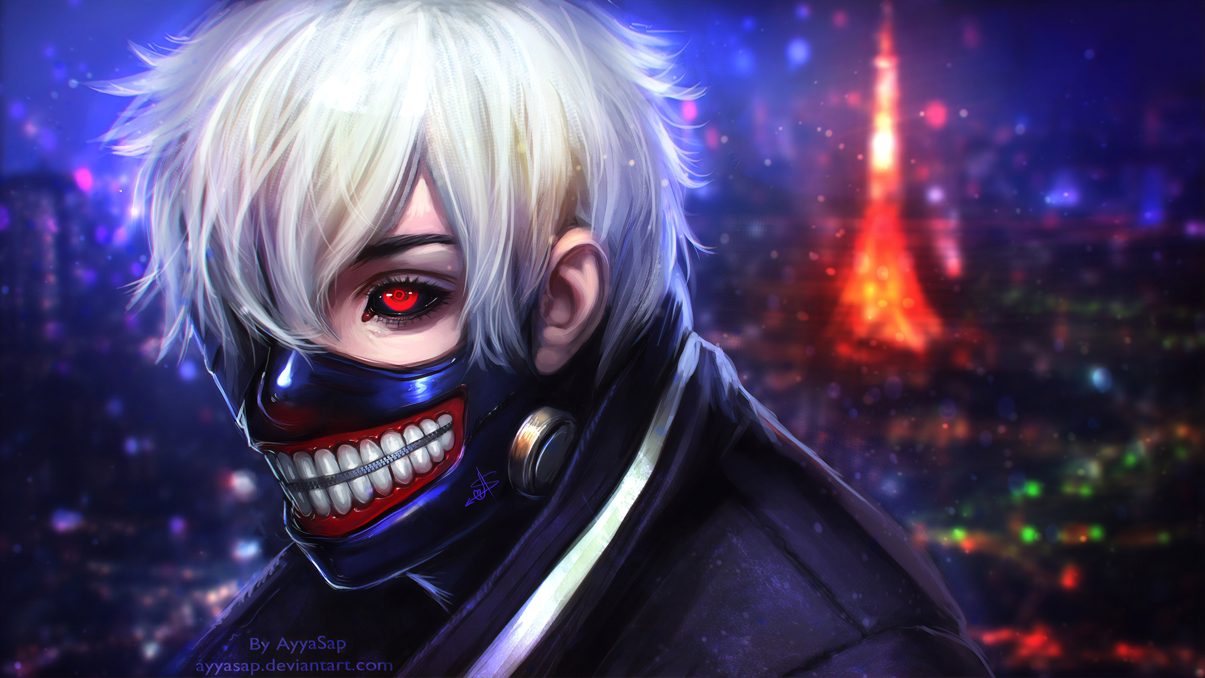 Wallpaper 4k Tokyo Ghoul Kaneki Ken Art 4k Wallpapers Anime