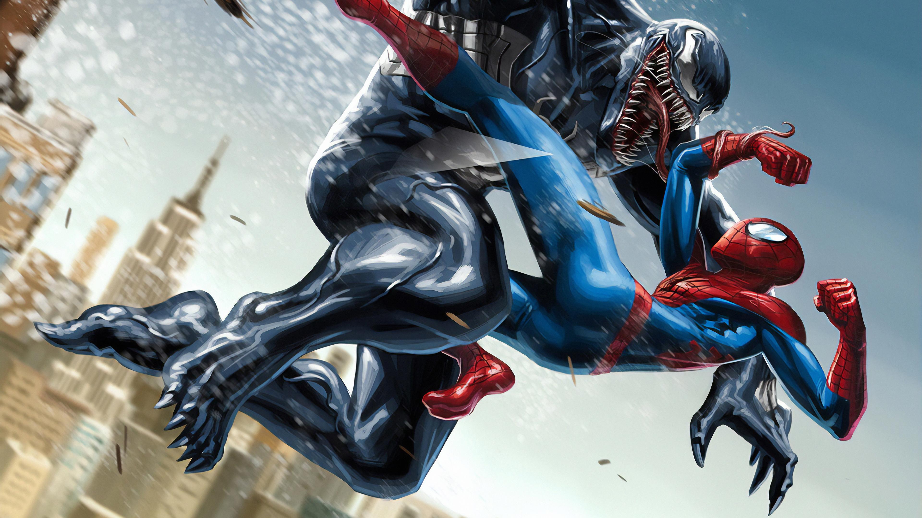 venom spiderman 1562105898 - Venom Spiderman - Venom wallpapers, superheroes wallpapers, spiderman wallpapers, hd-wallpapers, artwork wallpapers, 4k-wallpapers