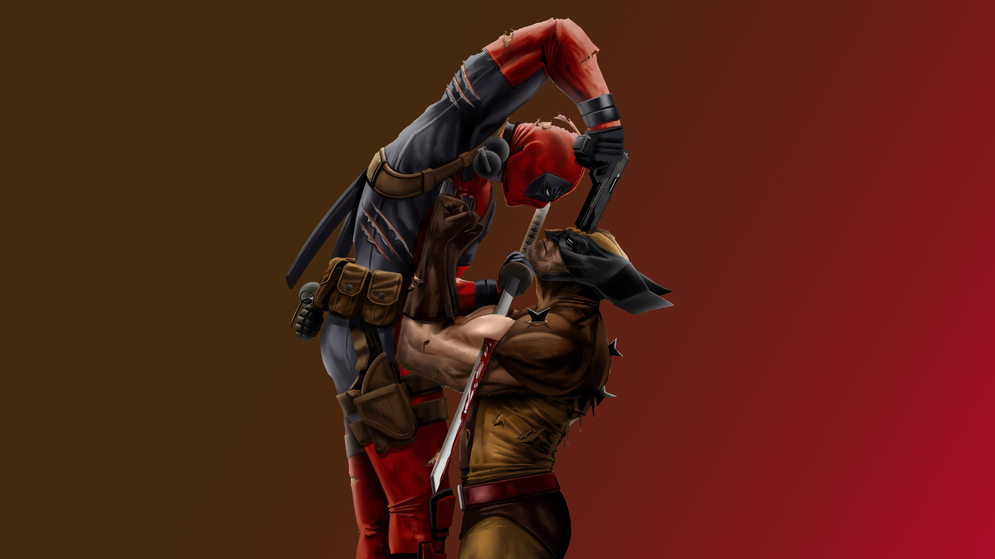 wolverine vs deadpool 1562106017 - Wolverine Vs Deadpool - wolverine wallpapers, superheroes wallpapers, hd-wallpapers, deadpool wallpapers, behance wallpapers, 4k-wallpapers