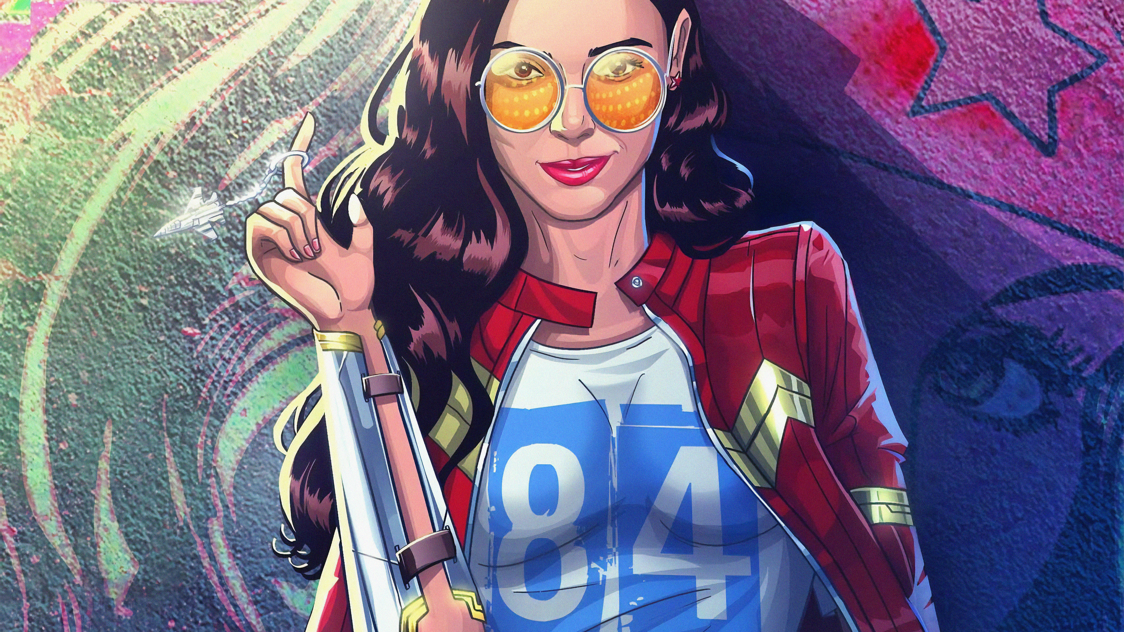 wonder woman 1984 modern art 1563220281 - Wonder Woman 1984 Modern Art - wonder woman wallpapers, superheroes wallpapers, hd-wallpapers, digital art wallpapers, artwork wallpapers, 4k-wallpapers