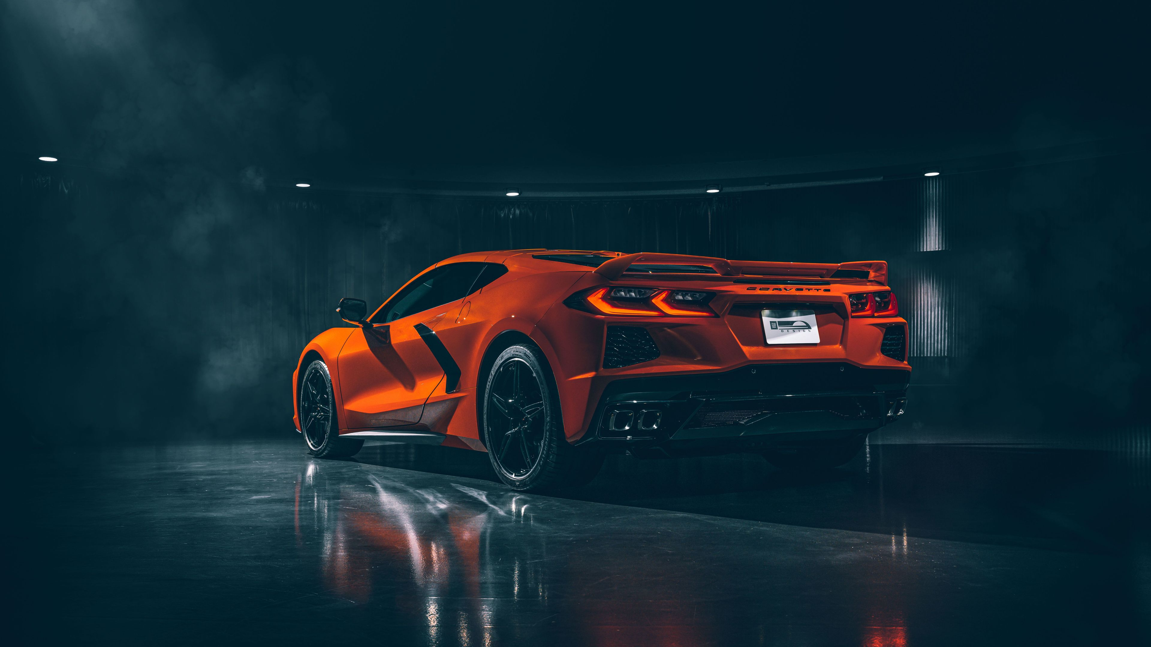 Wallpaper 4k 2020 Chevrolet Corvette Stingray C8 Rear 2020 Cars