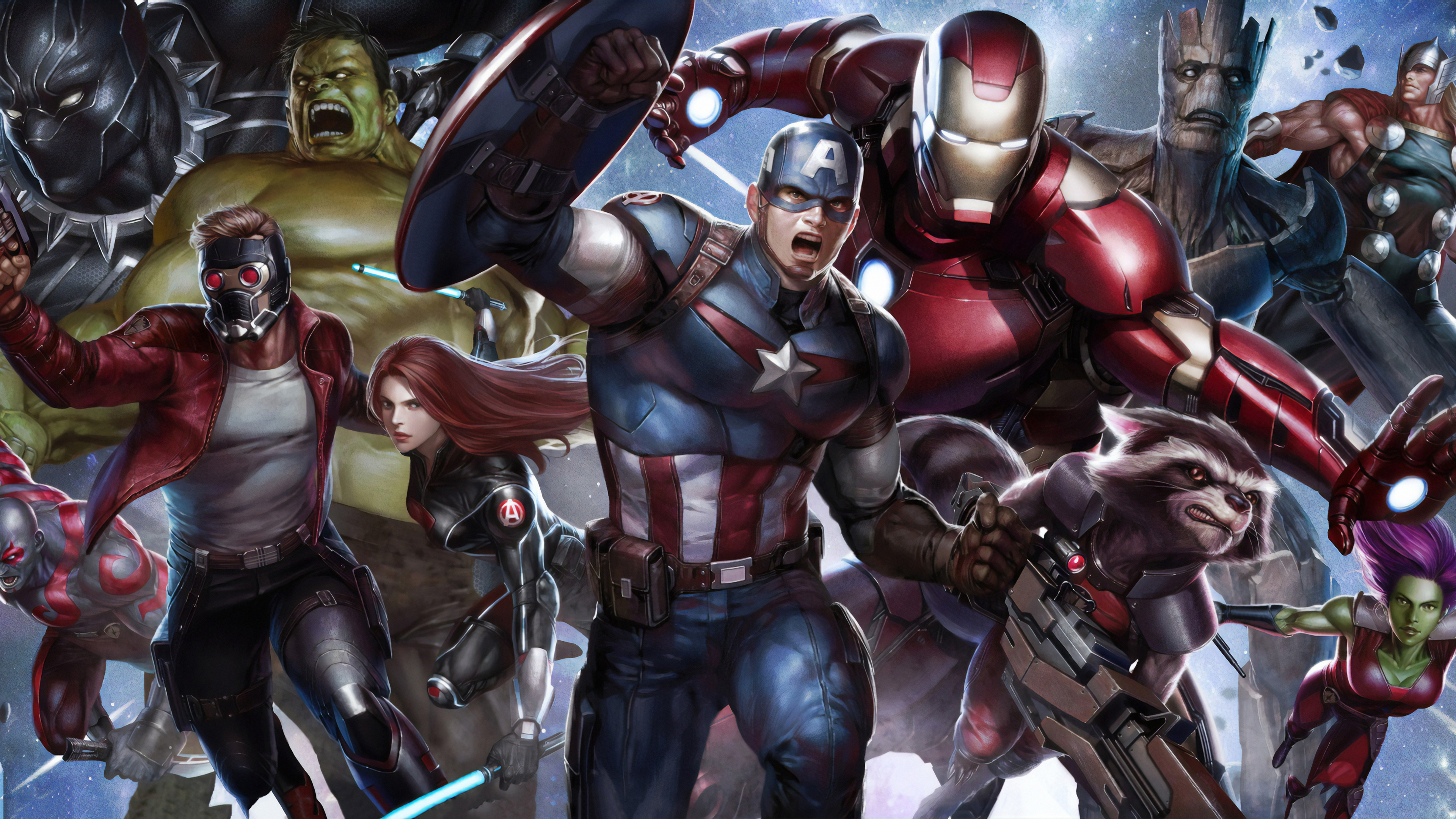 Wallpaper 4k All Avengers Assemble ...