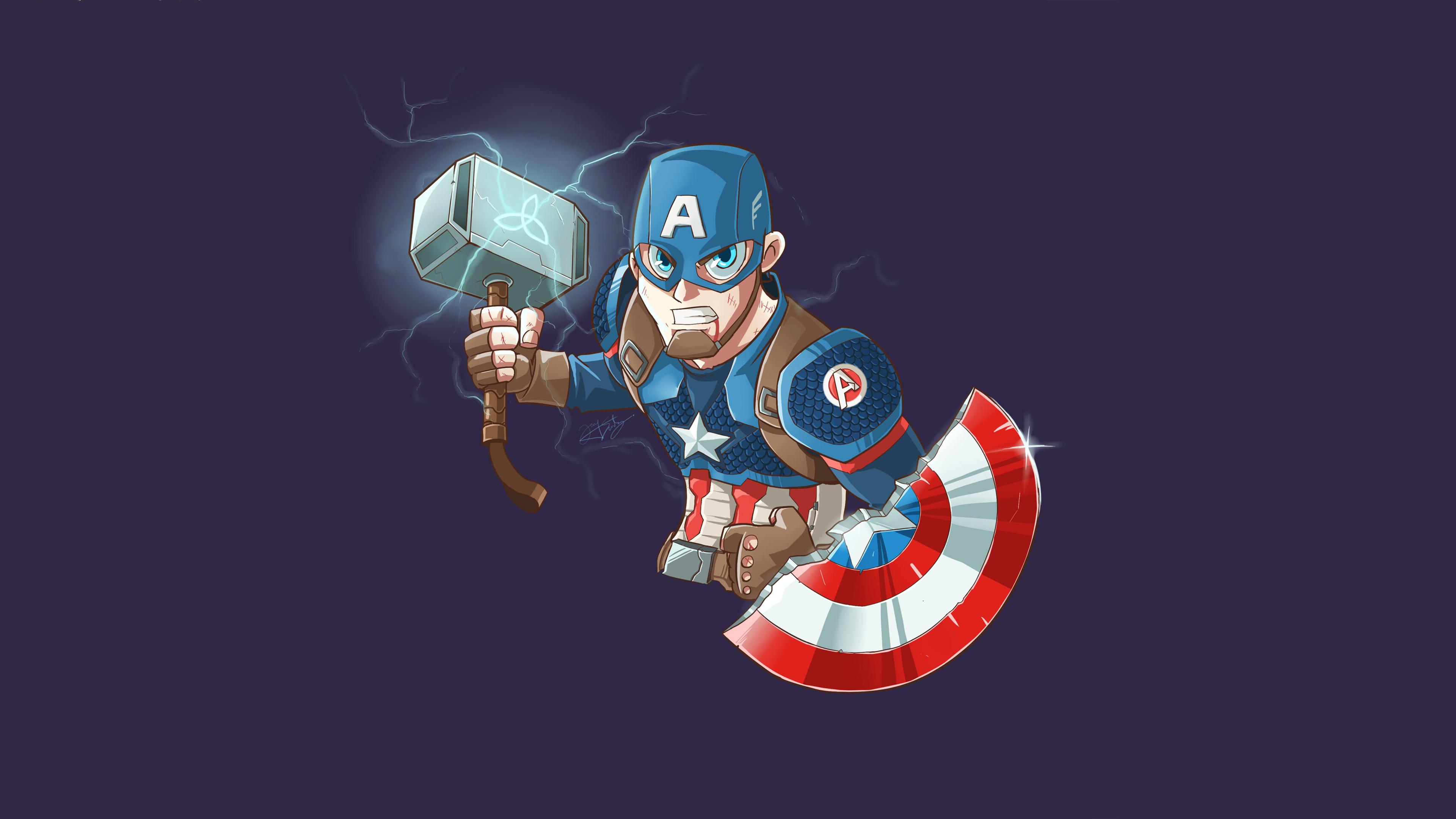captain america mjolnir art 1565053826 - Captain America Mjolnir Art - superheroes wallpapers, hd-wallpapers, captain america wallpapers, artwork wallpapers, 4k-wallpapers