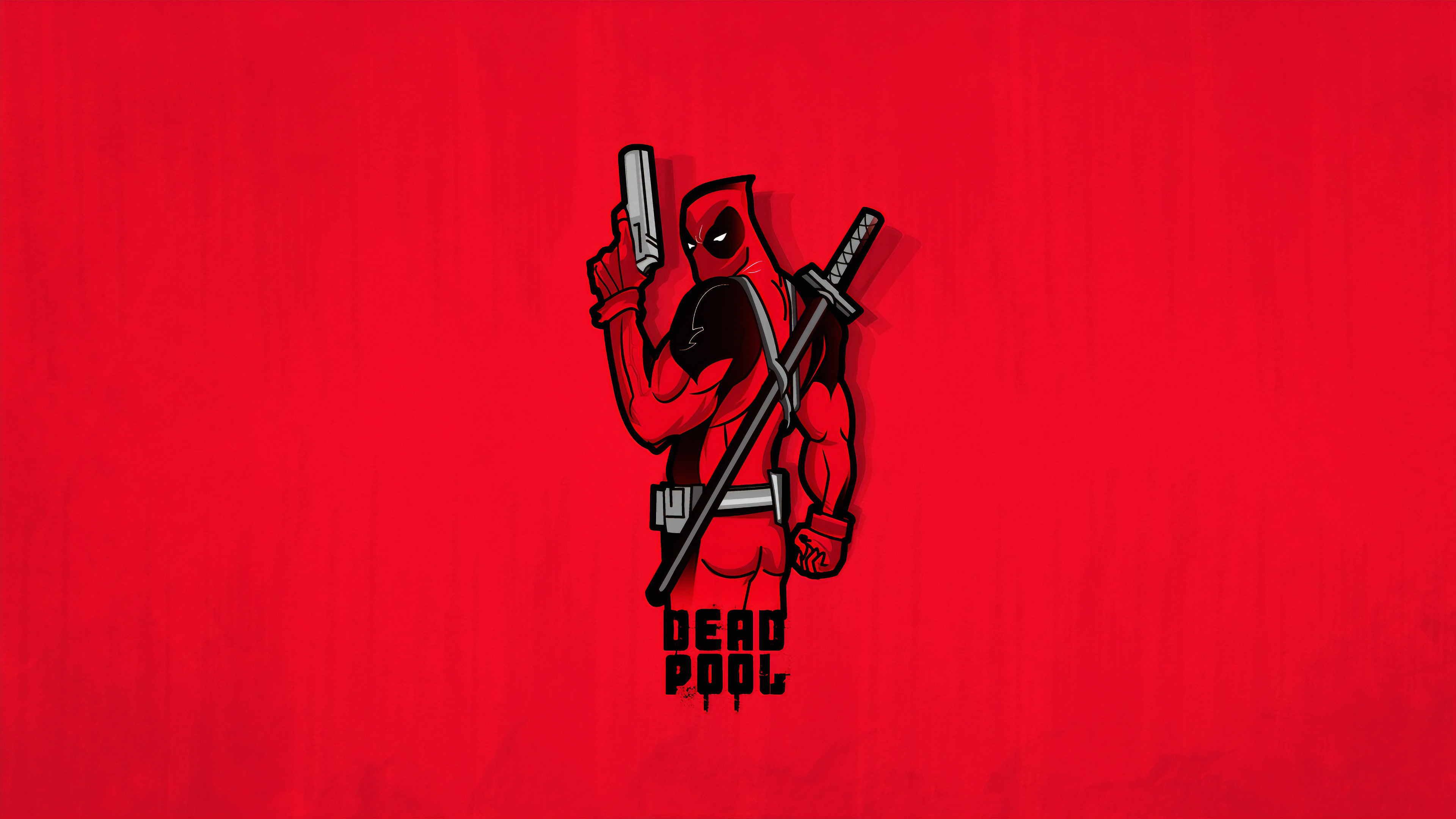 deadpool minimal 1565054144 - Deadpool Minimal - superheroes wallpapers, hd-wallpapers, digital art wallpapers, deadpool wallpapers, behance wallpapers, artwork wallpapers, artist wallpapers, 4k-wallpapers