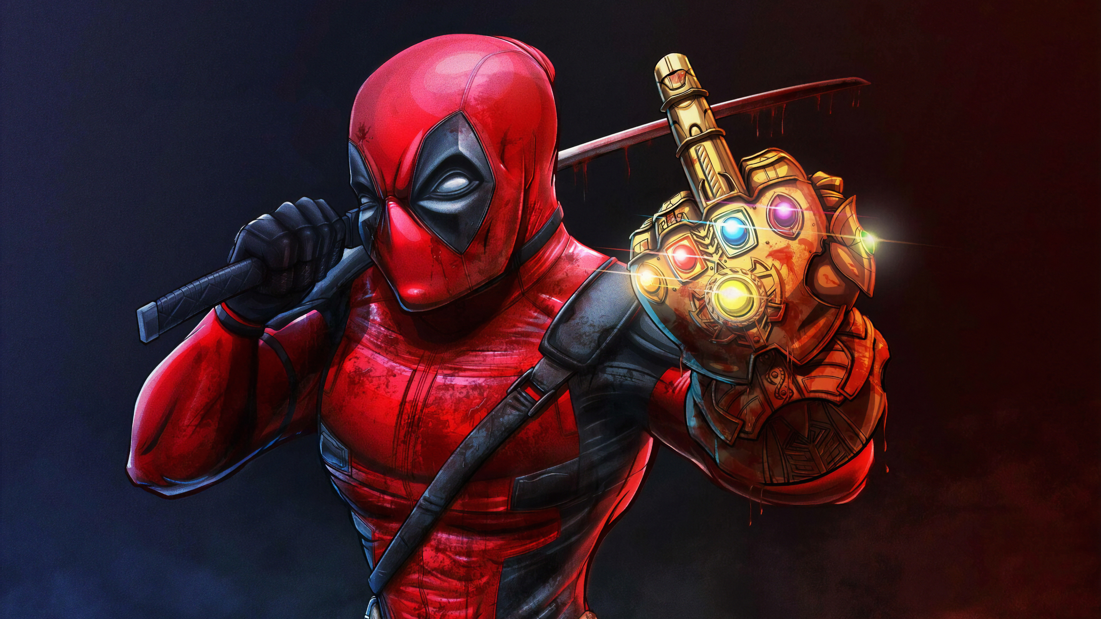Wallpaper 4k Deadpool With Thanos Infinity Gauntlet 4k Wallpapers Artist Wallpapers Artwork Wallpapers Deadpool Wallpapers Digital Art Wallpapers Hd Wallpapers Superheroes Wallpapers