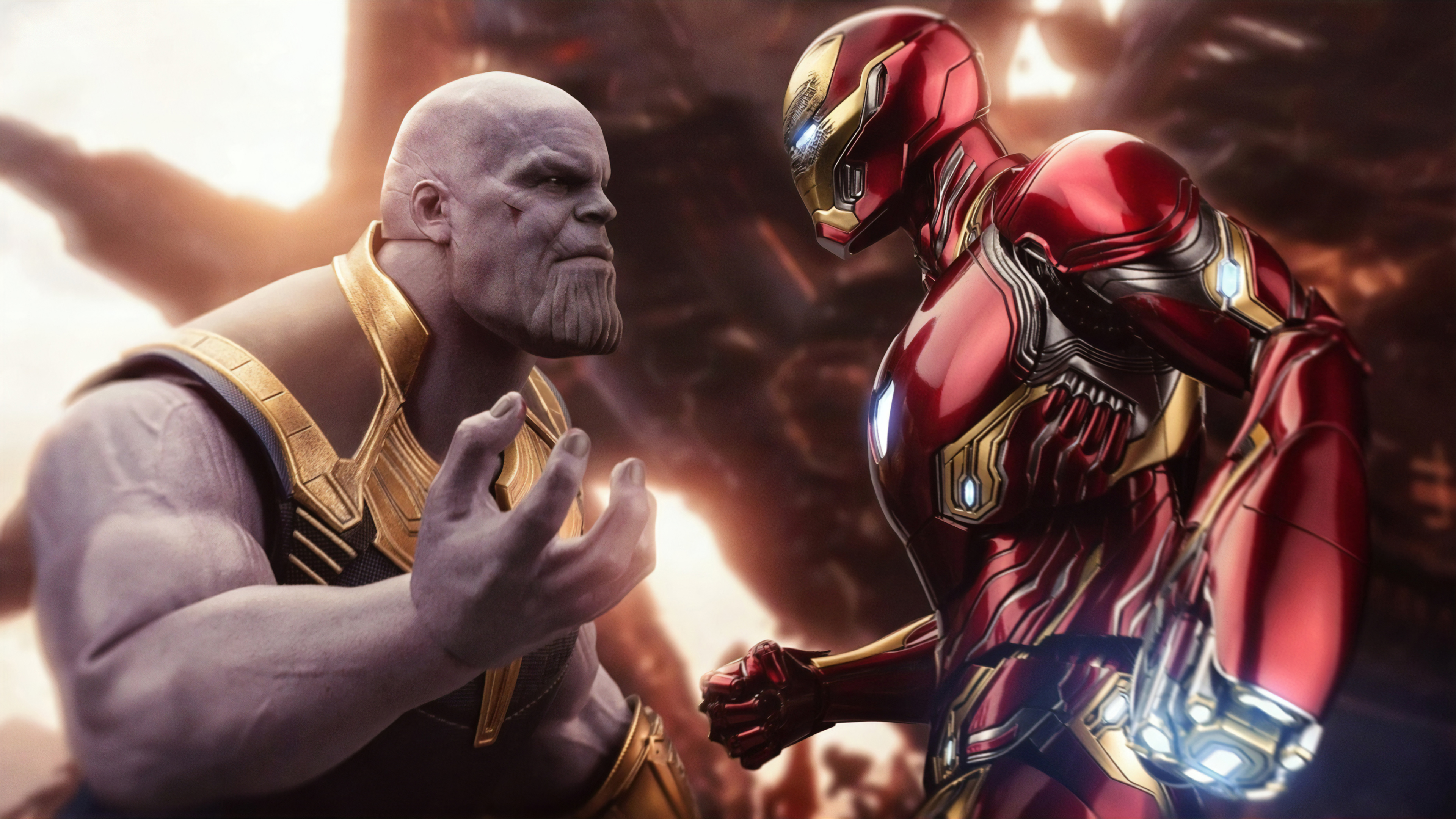 Wallpaper 4k Iron Man Thanos 4k Wallpapers Hd Wallpapers Iron Man Wallpapers Superheroes Wallpapers Thanos Wallpapers