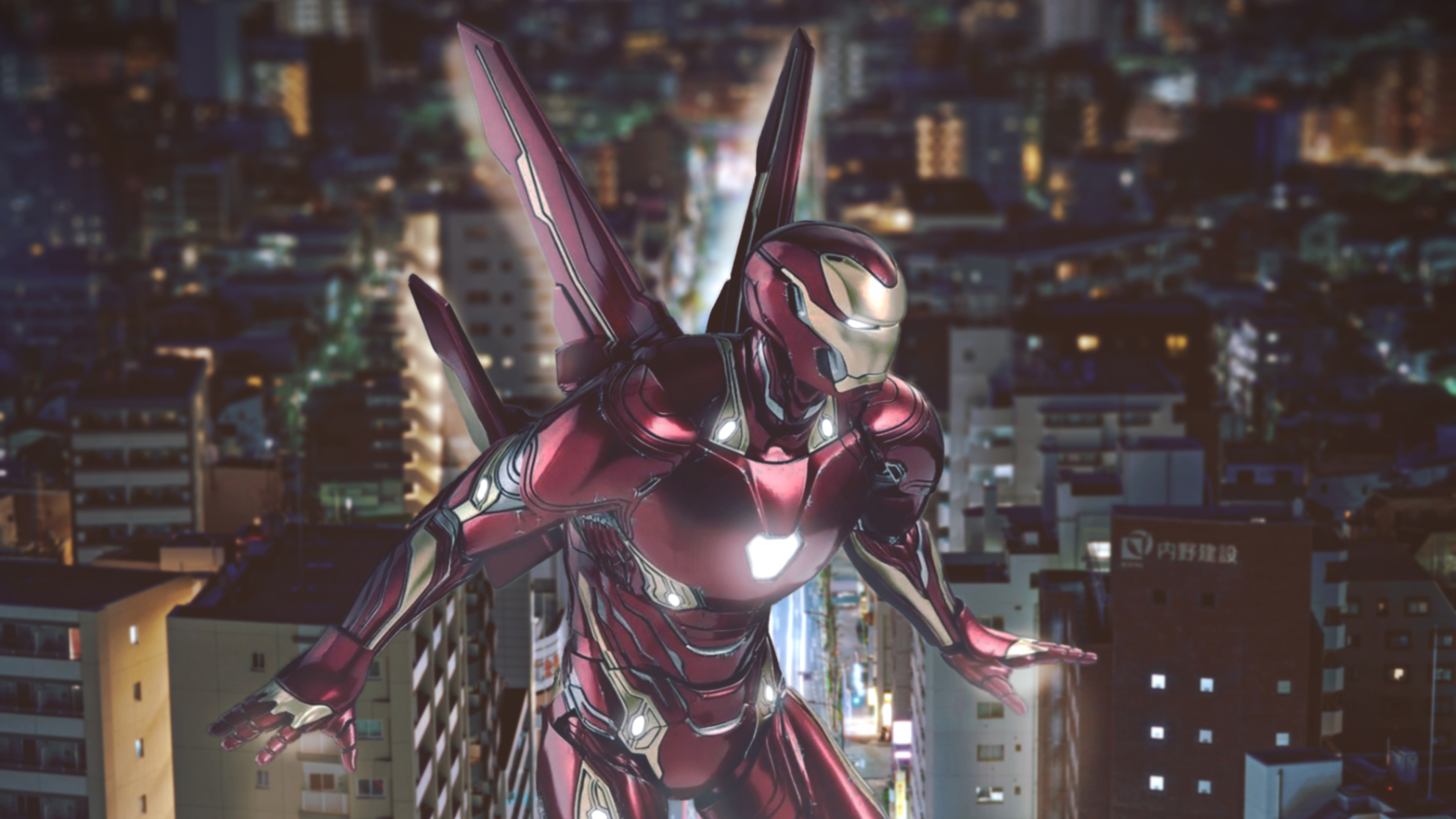 iron man with wings 1565053240 - Iron Man With Wings - superheroes wallpapers, iron man wallpapers, hd-wallpapers, behance wallpapers, 4k-wallpapers